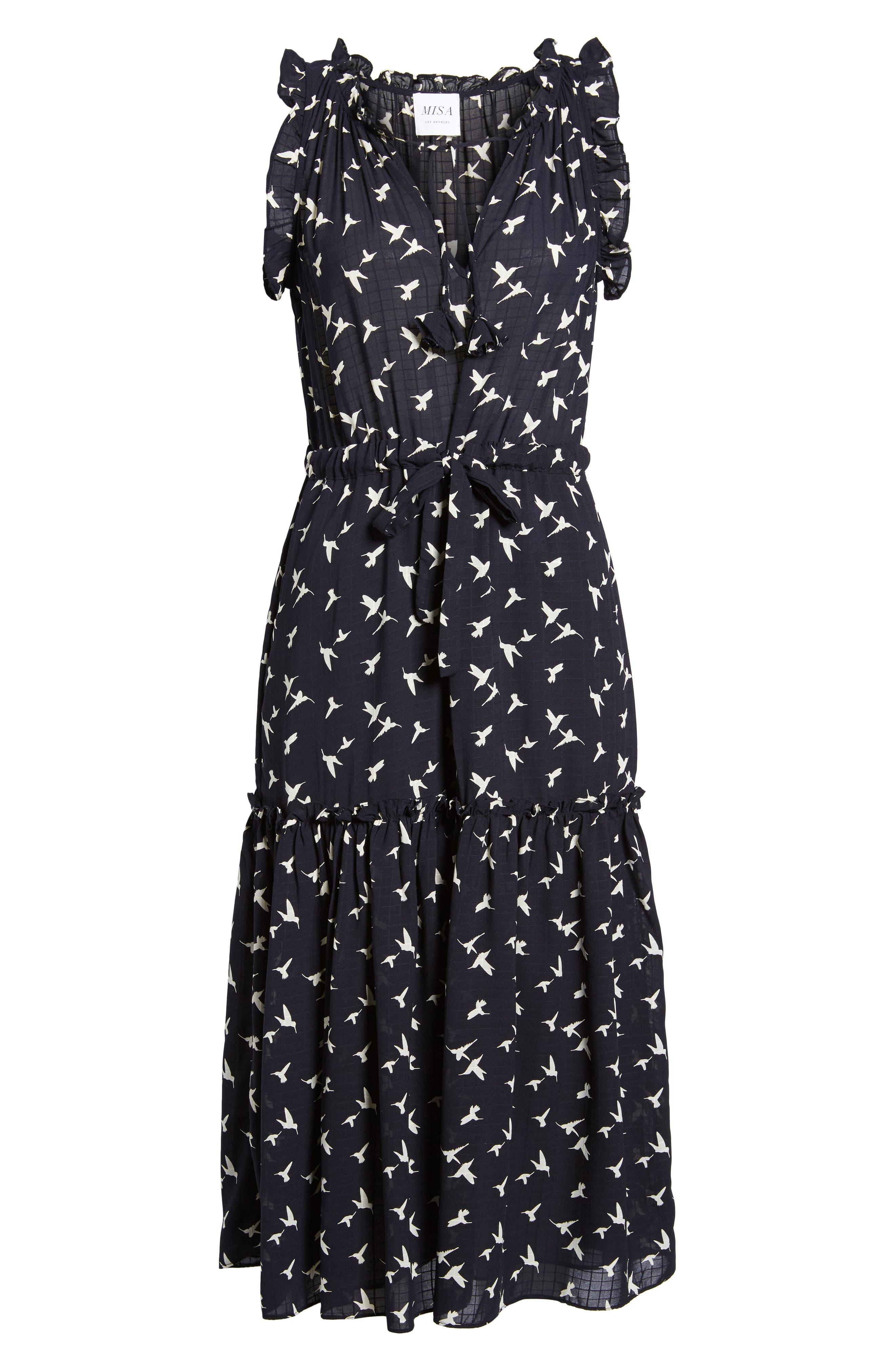 Alternate Image 6  - MISA Los Angeles Martina Midi Dress