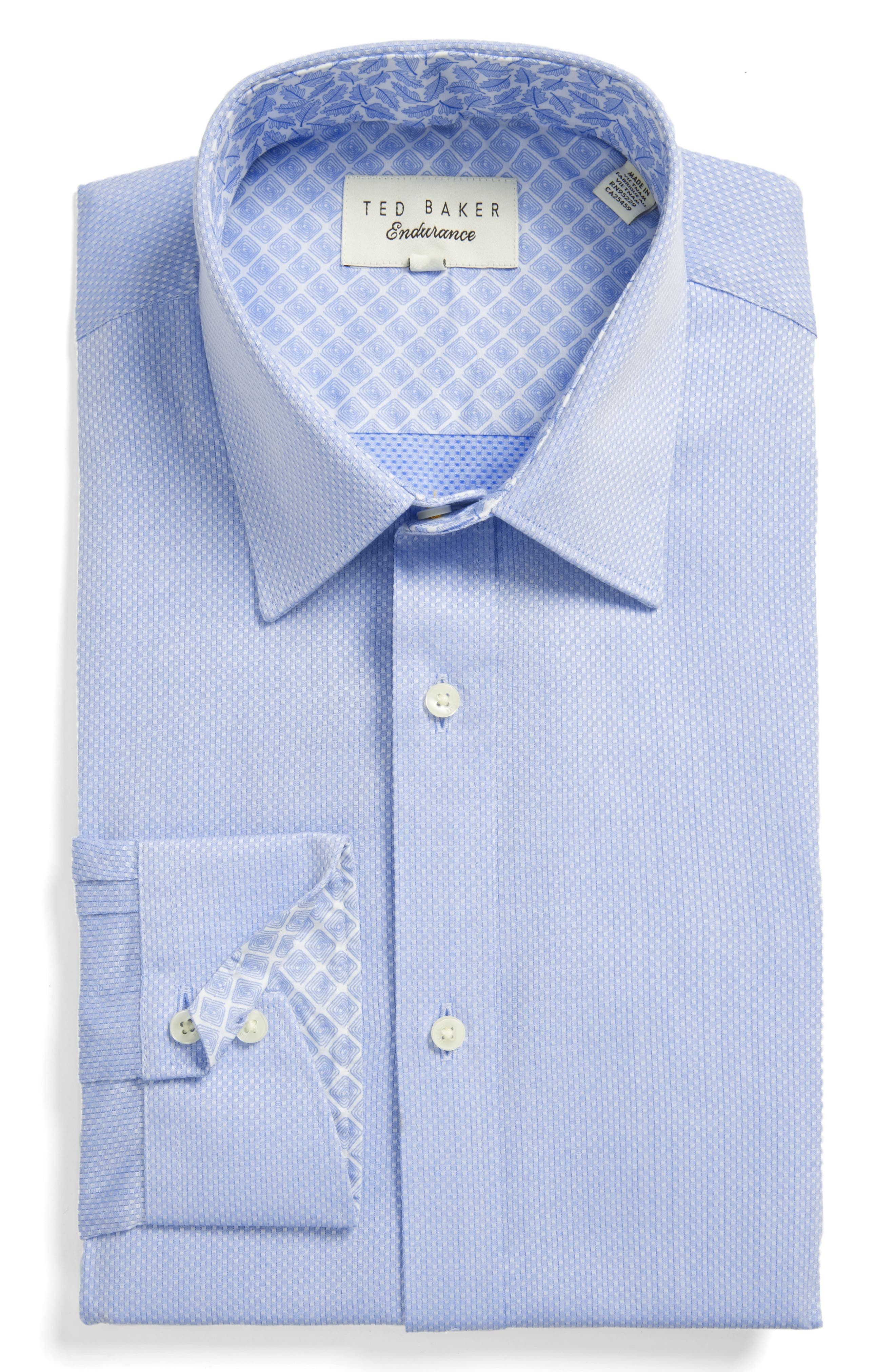 Endurance Trim Fit Dress Shirt,                             Main thumbnail 1, color,                             Blue