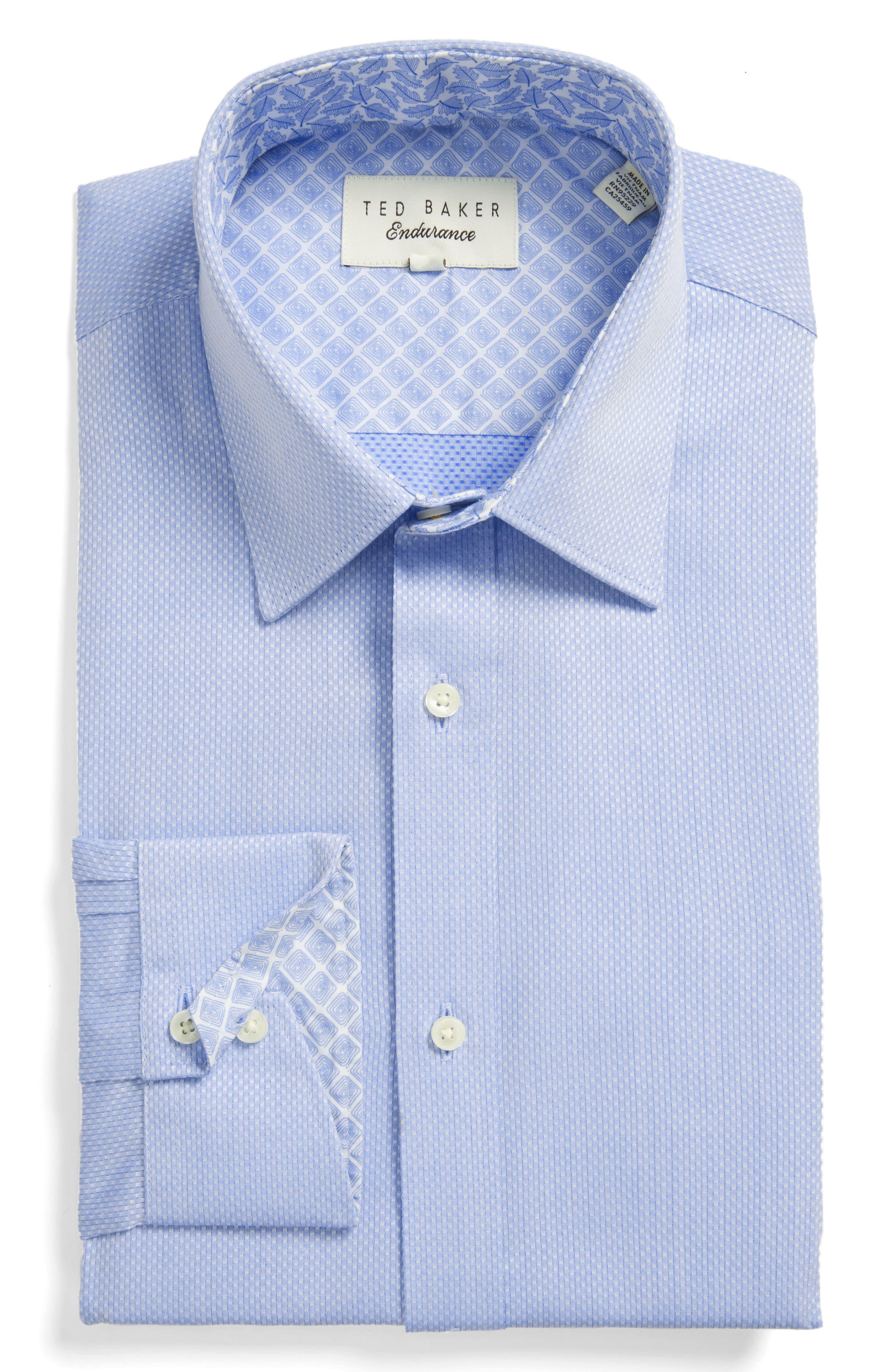 Endurance Trim Fit Dress Shirt,                         Main,                         color, Blue