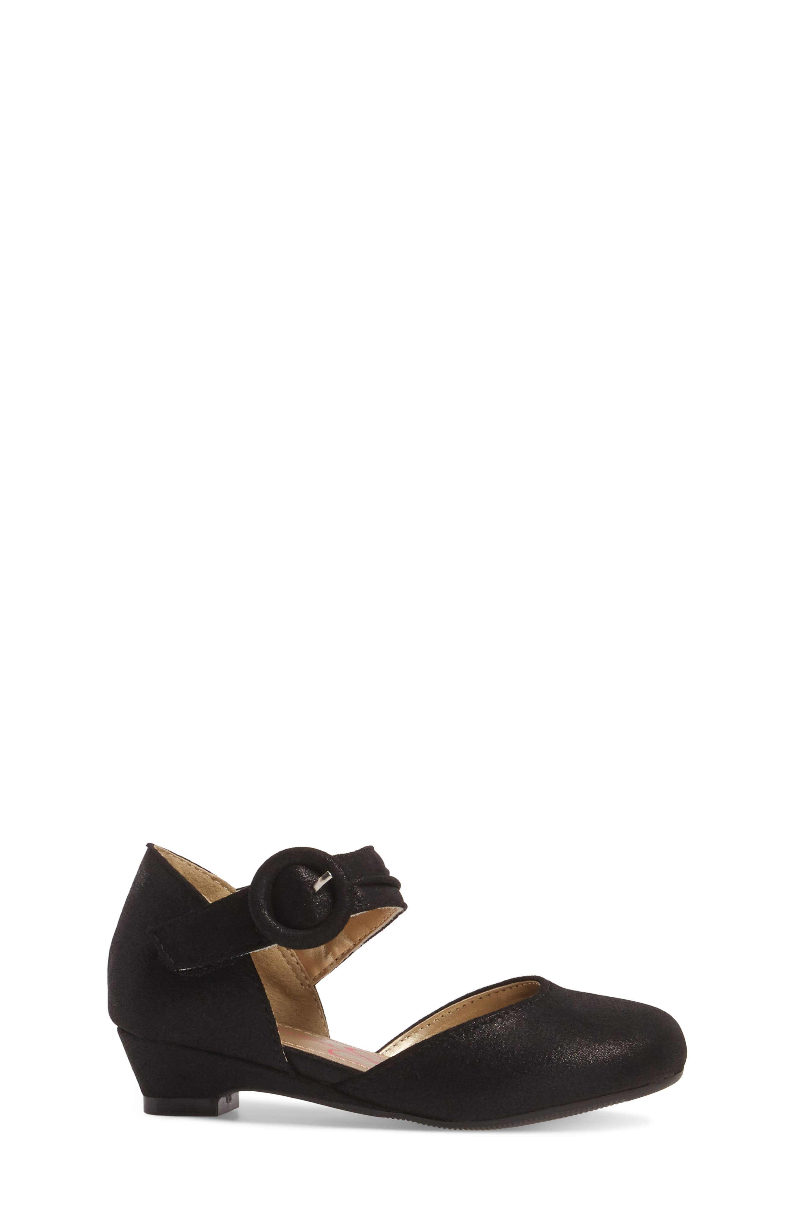 Tiana Shimmery Pump,                             Alternate thumbnail 3, color,                             Black Suede