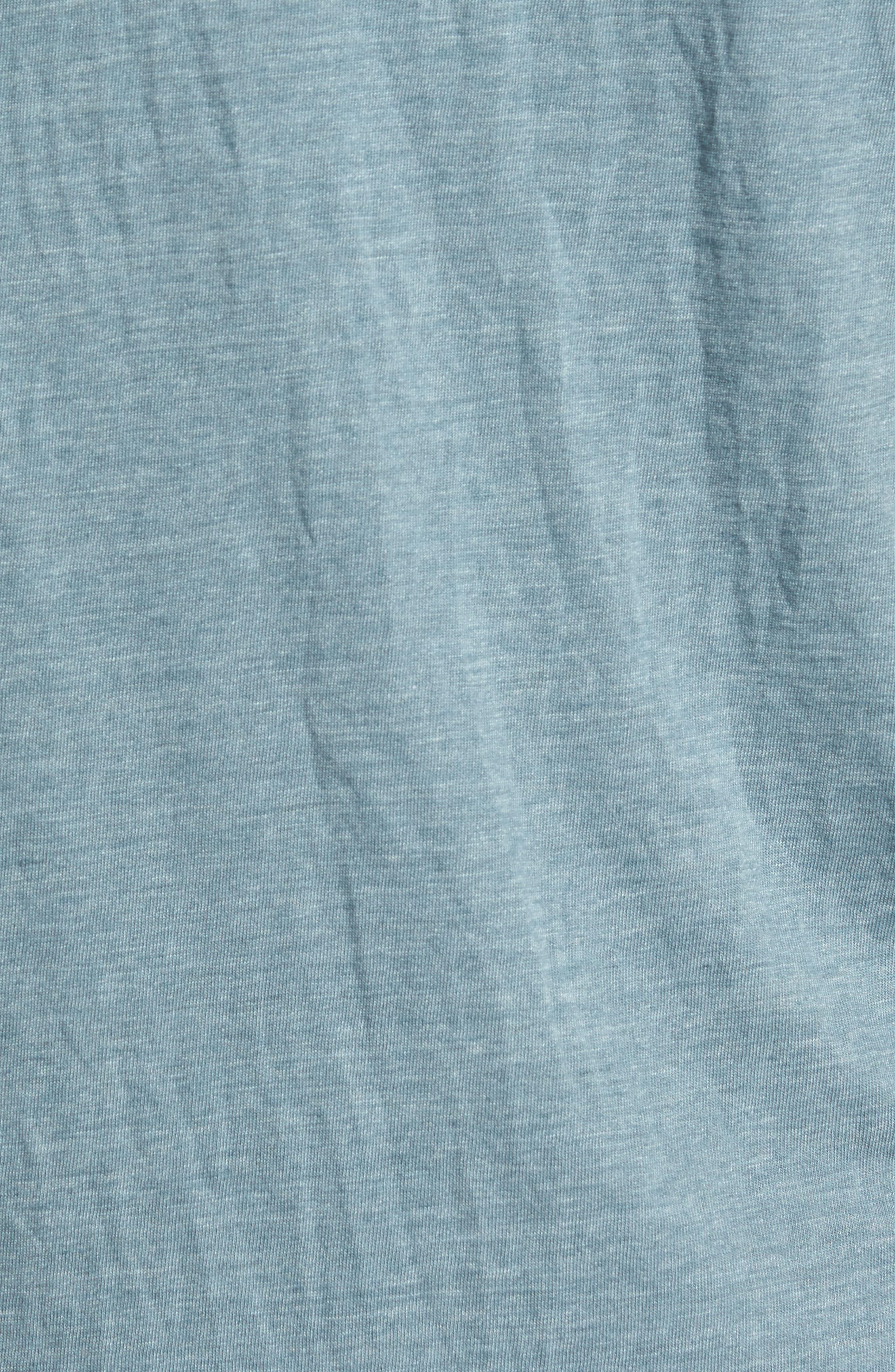 Scallop Triblend Crewneck T-Shirt,                             Alternate thumbnail 5, color,                             Real Teal