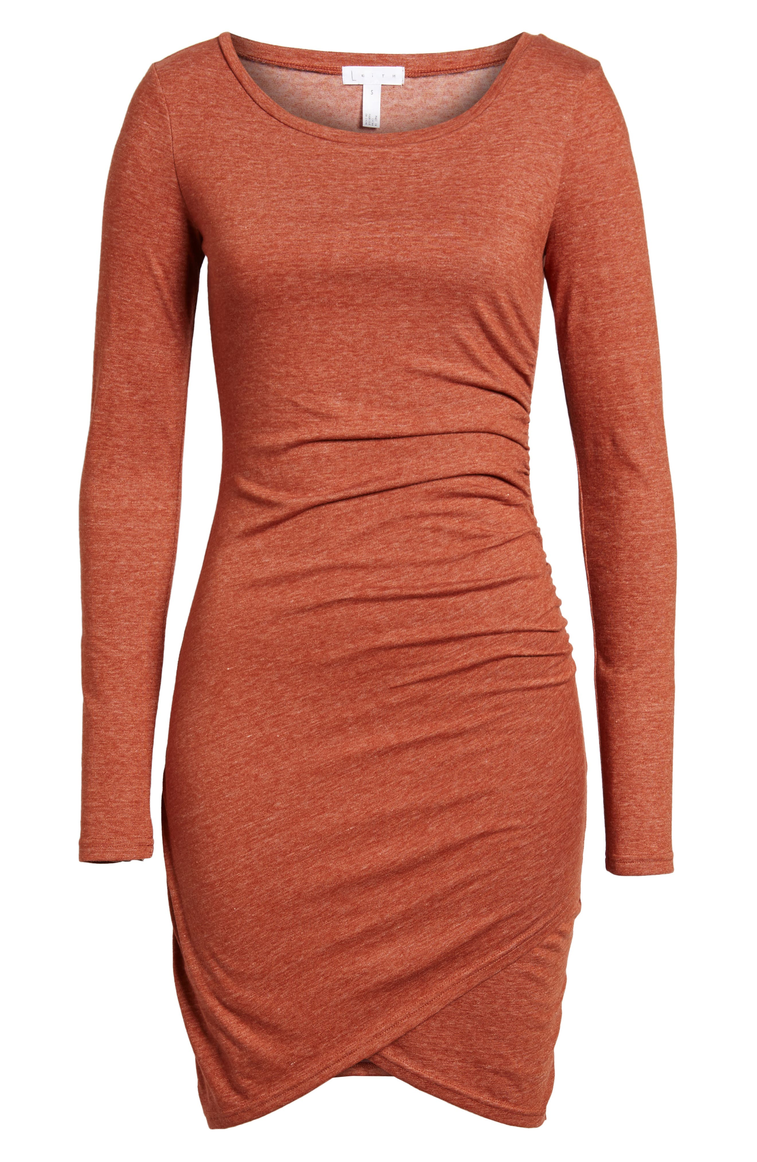 Alternate Image 6  - Leith Ruched Long Sleeve Dress (Nordstrom Online Exclusive)