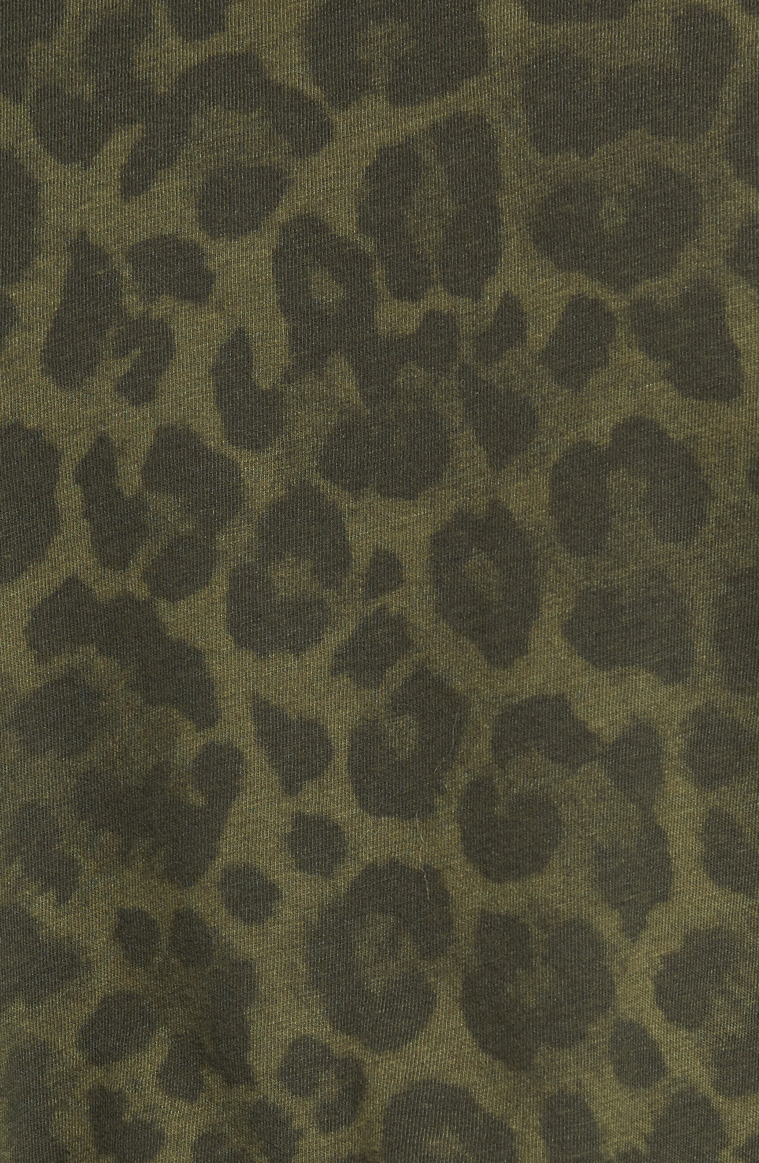 Leopard Print Tee,                             Alternate thumbnail 5, color,                             Olive
