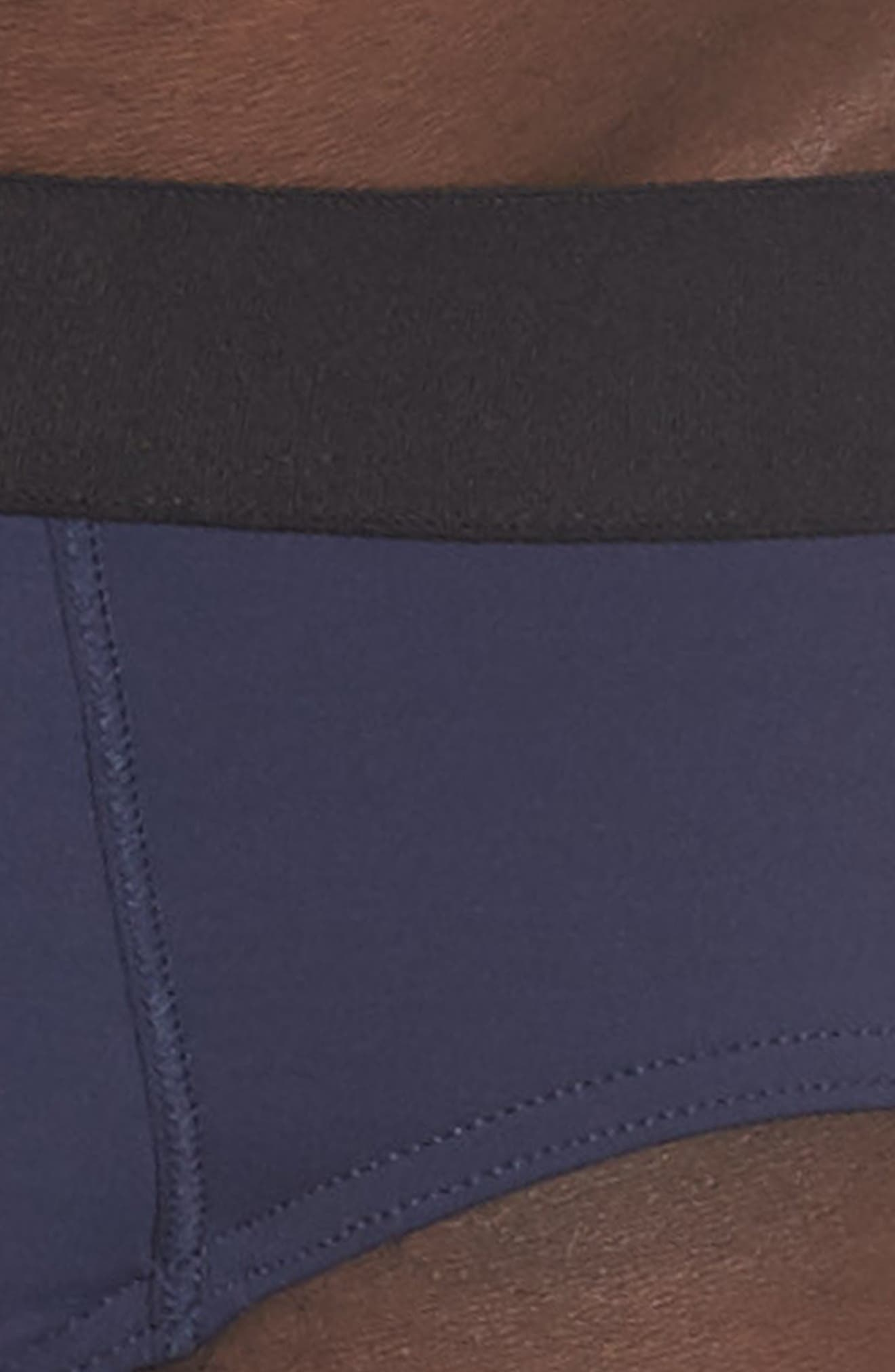 Micro Touch Briefs,                             Alternate thumbnail 4, color,                             Midnight Navy