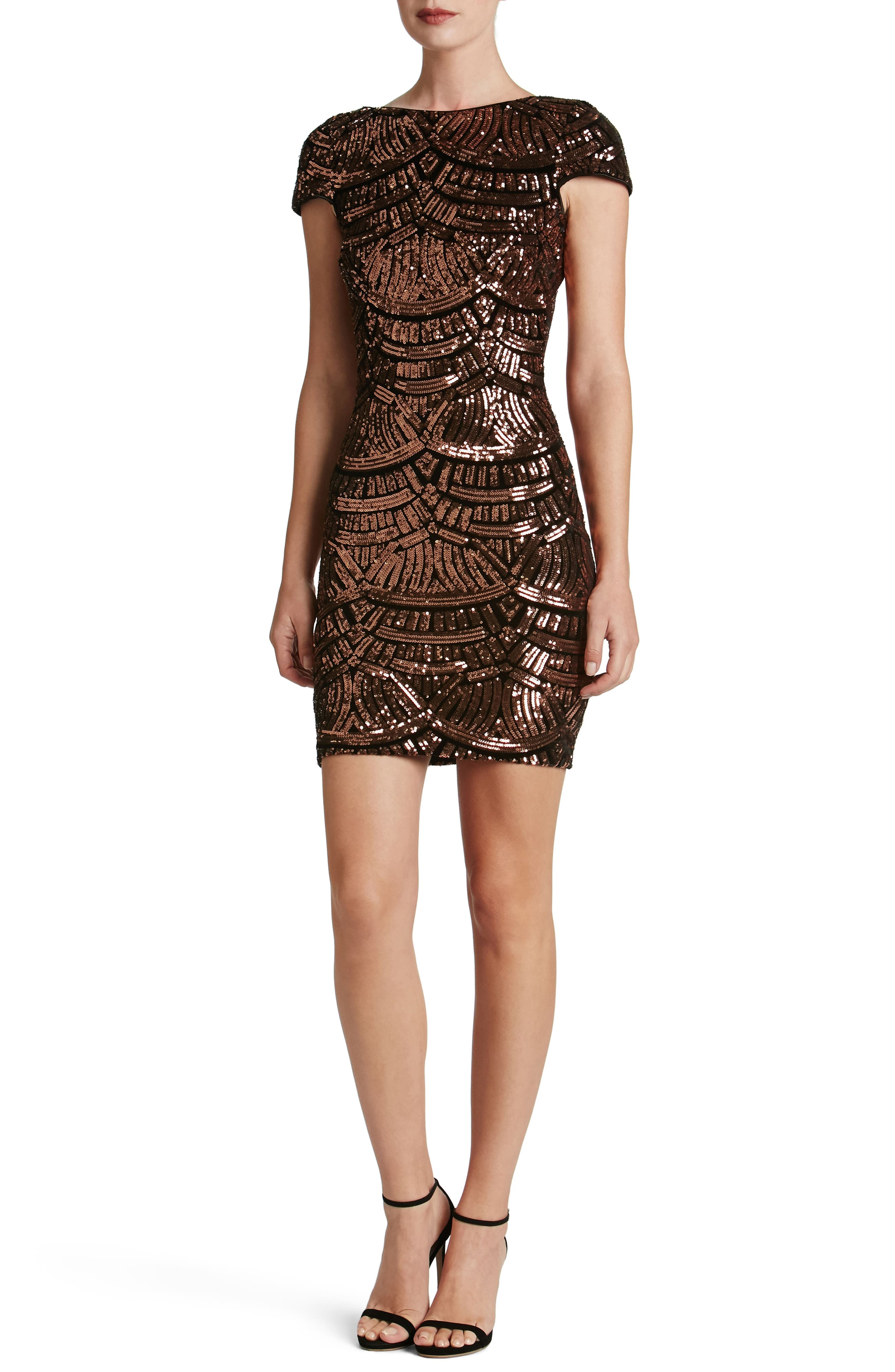 Main Image - Dress the Population Tabitha Sequin Body-Con Dress (Nordstrom Exclusive)