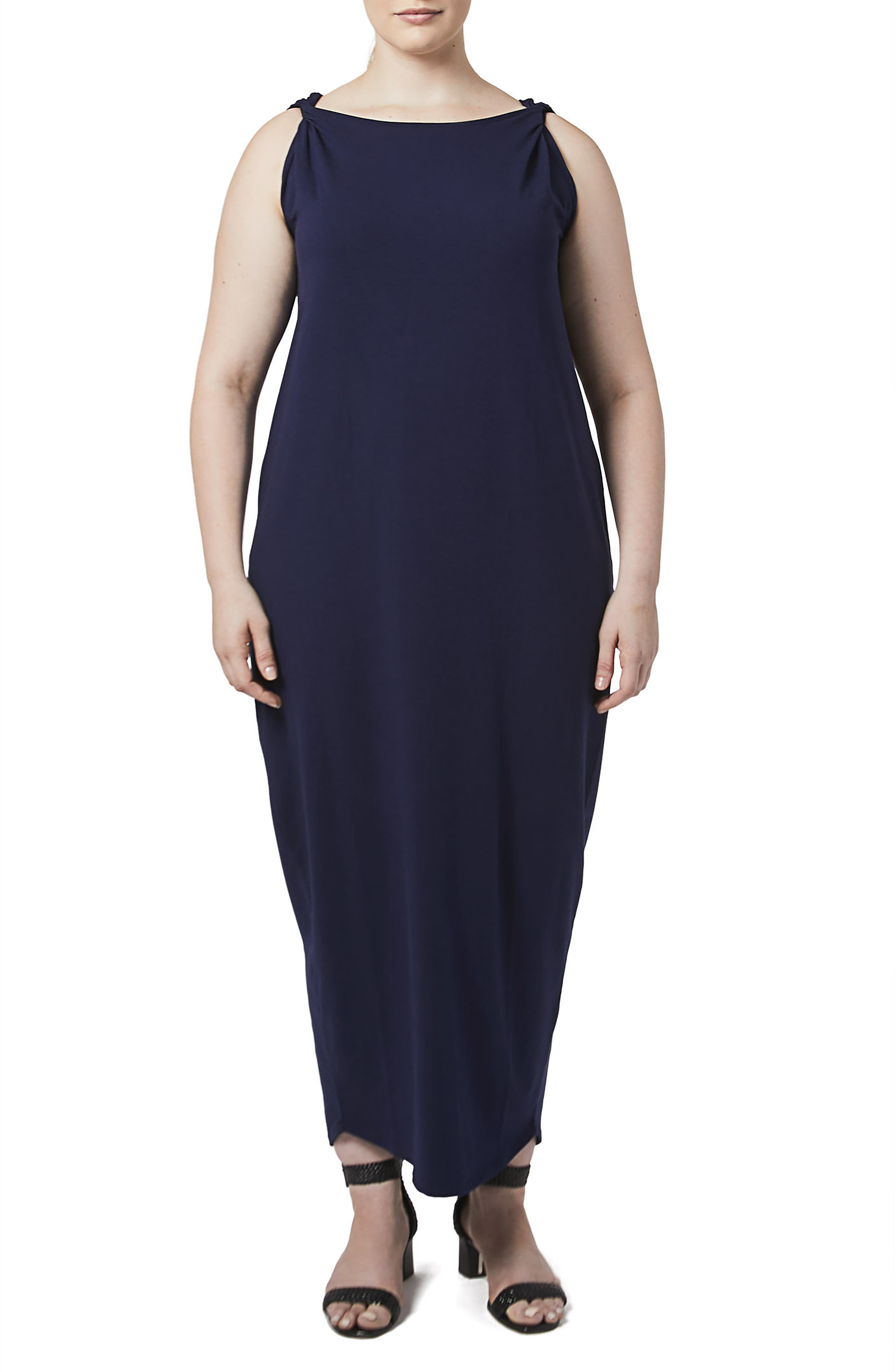 Tenna Washed Jersey Maxi Dress,                             Main thumbnail 1, color,                             Evening Blue