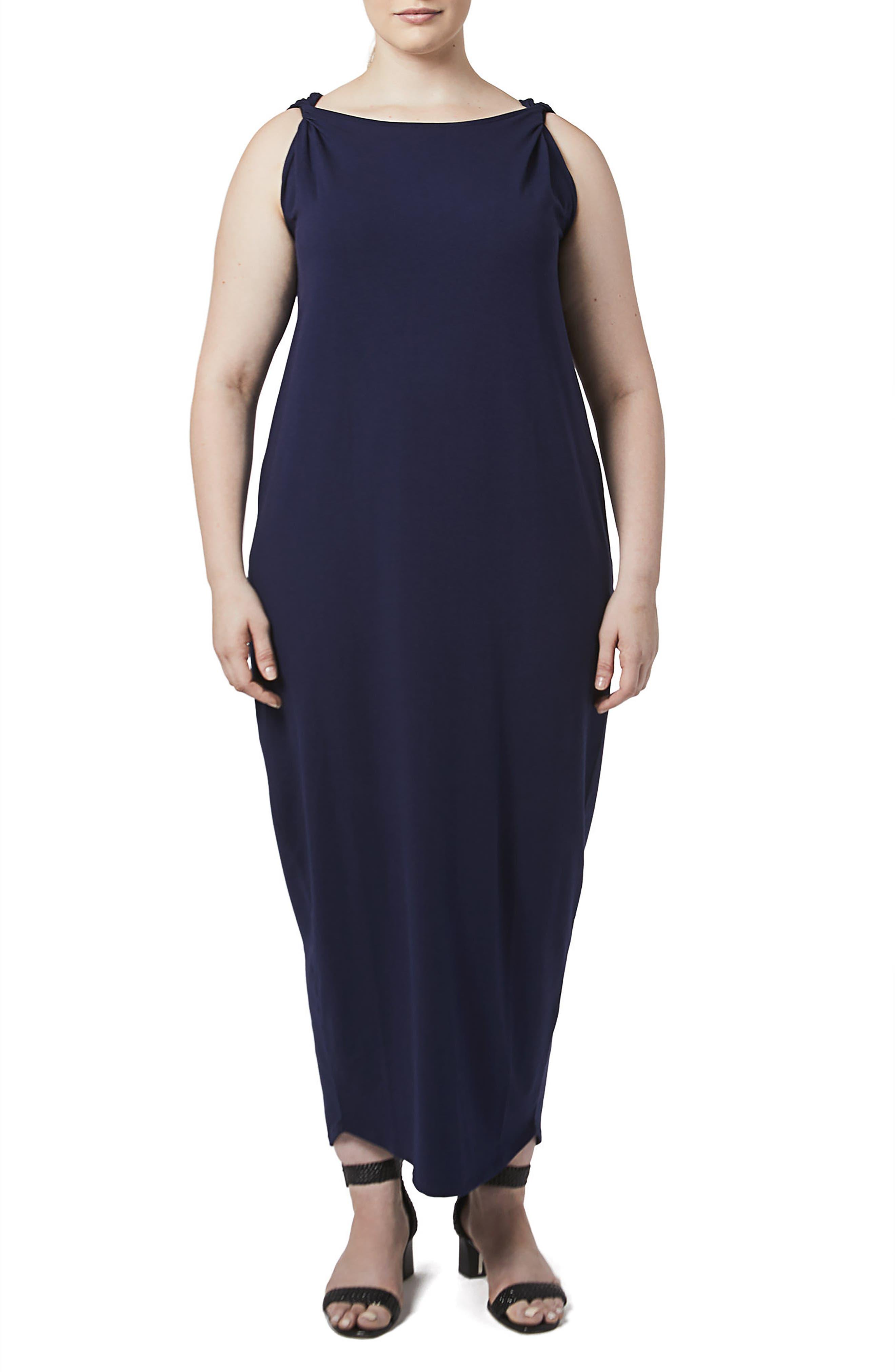 Main Image - UNIVERSAL STANDARD Tenna Washed Jersey Maxi Dress (Plus Size)