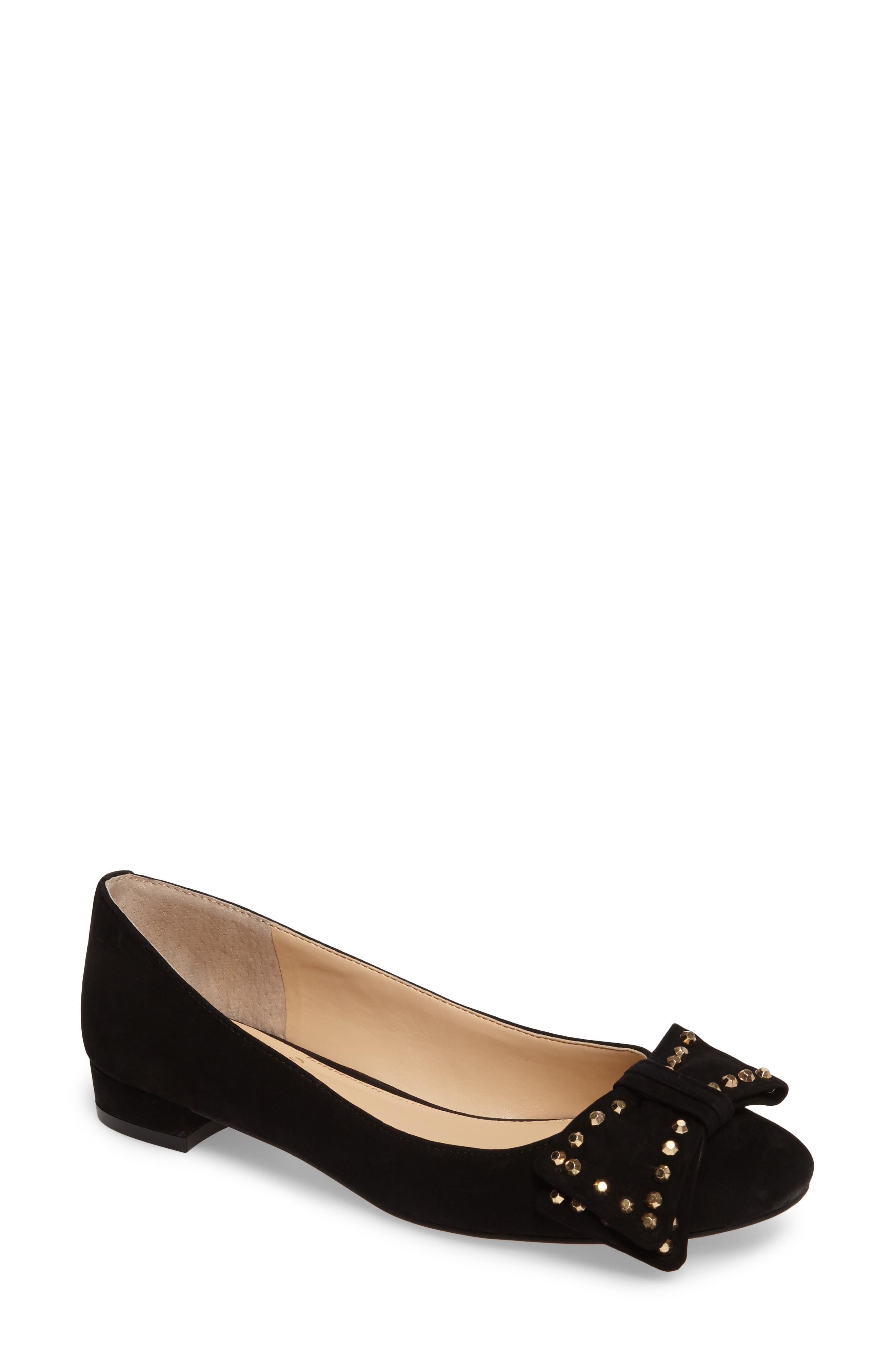 Annaley Flat,                         Main,                         color, Black Nubuck Leather