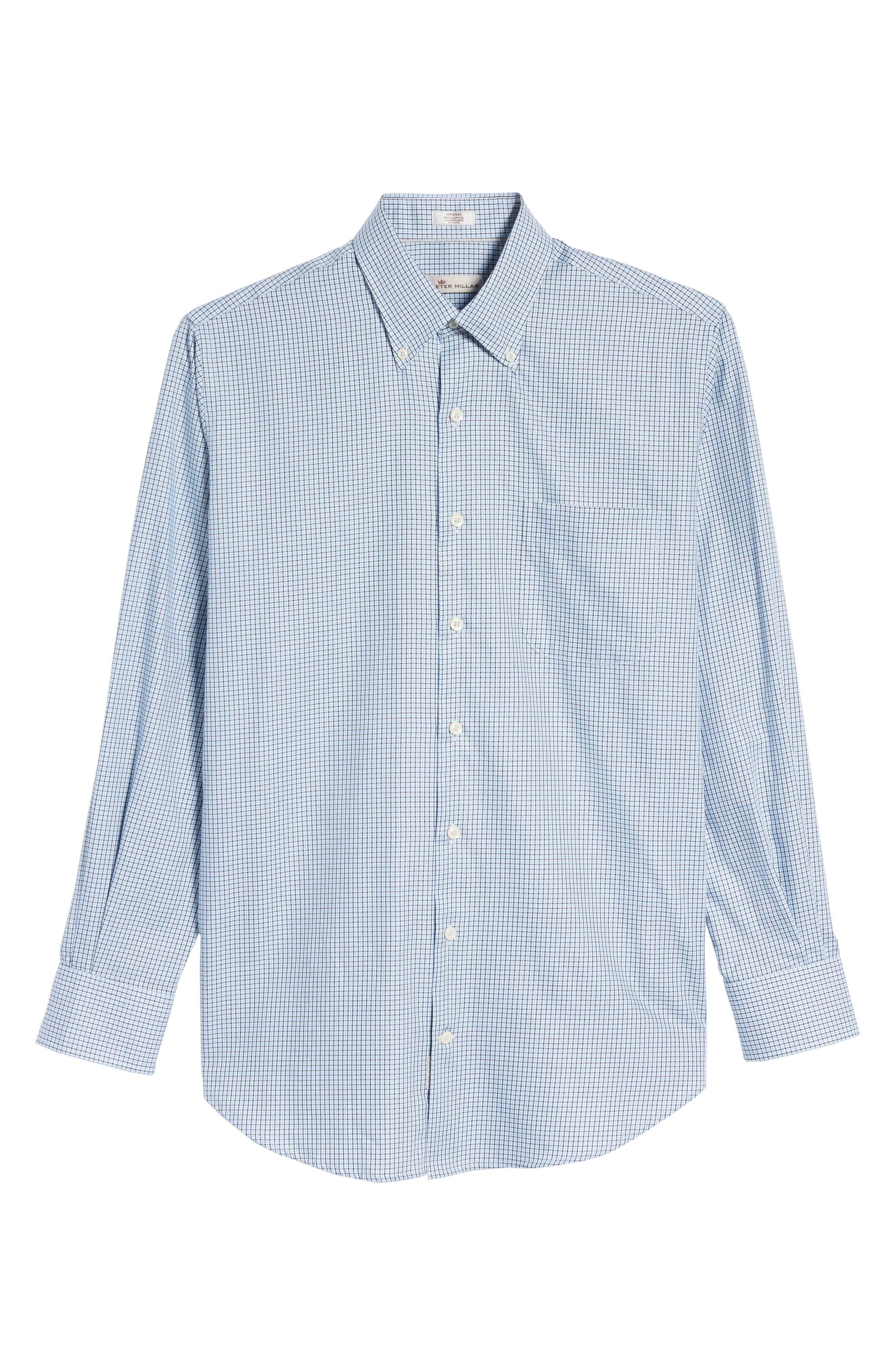 Elevation Regular Fit Check Sport Shirt,                             Alternate thumbnail 6, color,                             Tahoe Blue