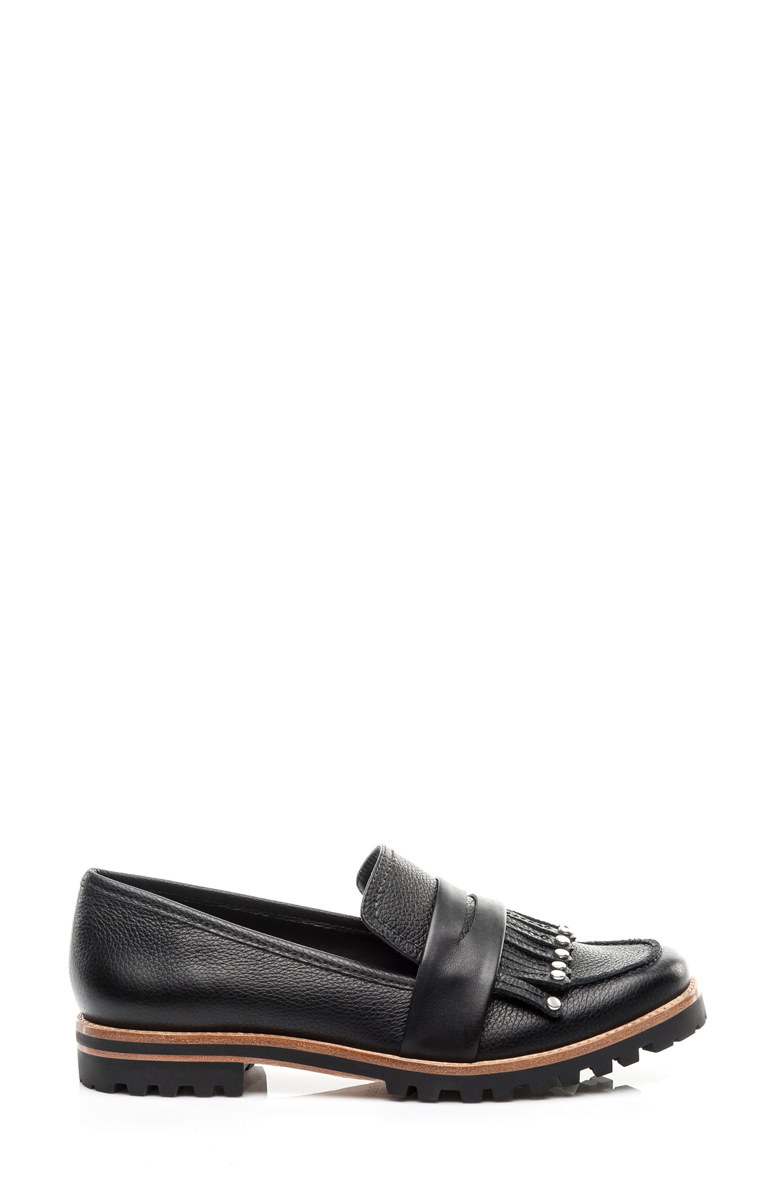 Olley Loafer,                             Alternate thumbnail 3, color,                             Black Leather