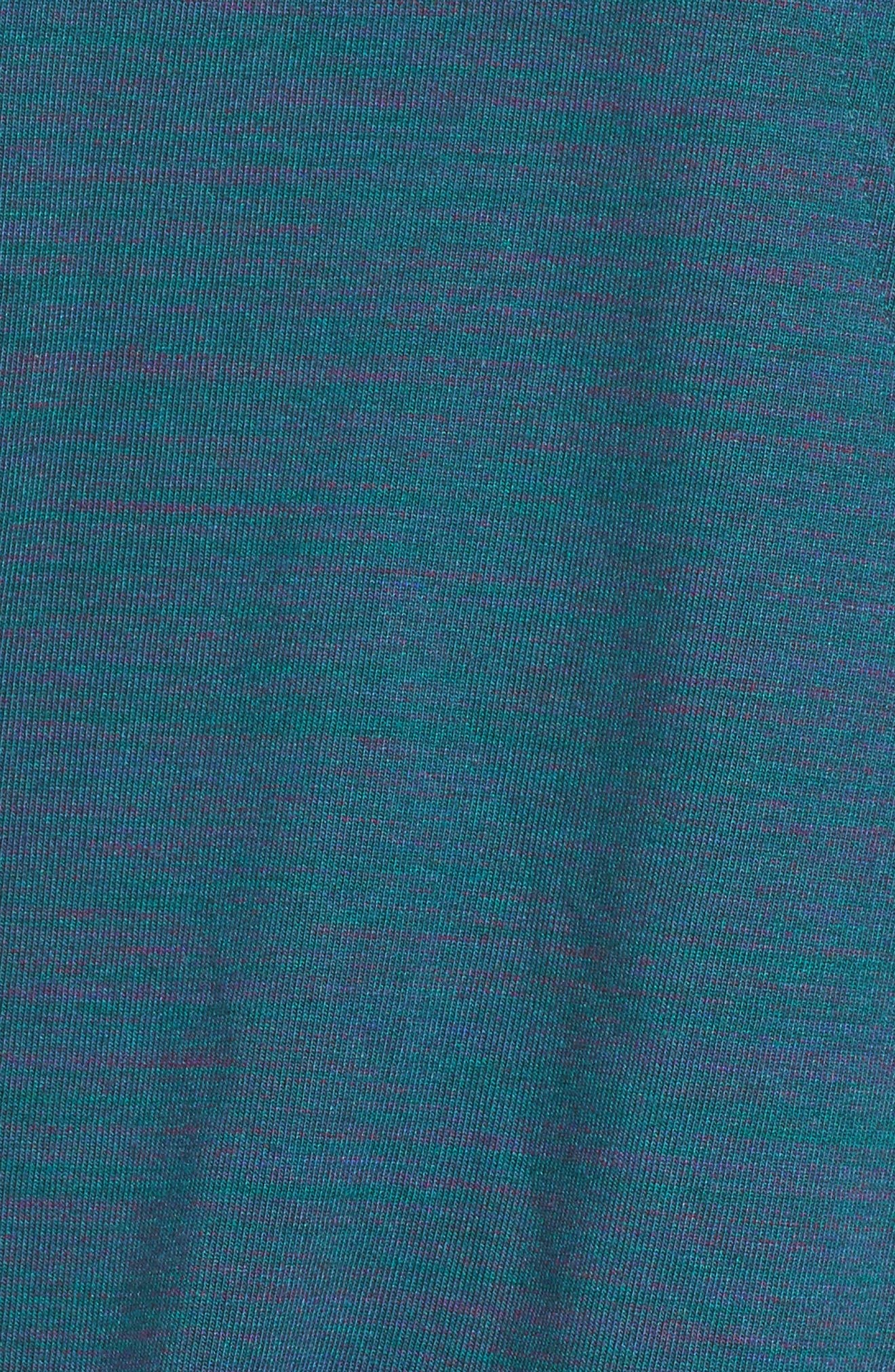 Gym Zip Hoodie,                             Alternate thumbnail 6, color,                             Dk Atomic Teal/ Htr/ Sail