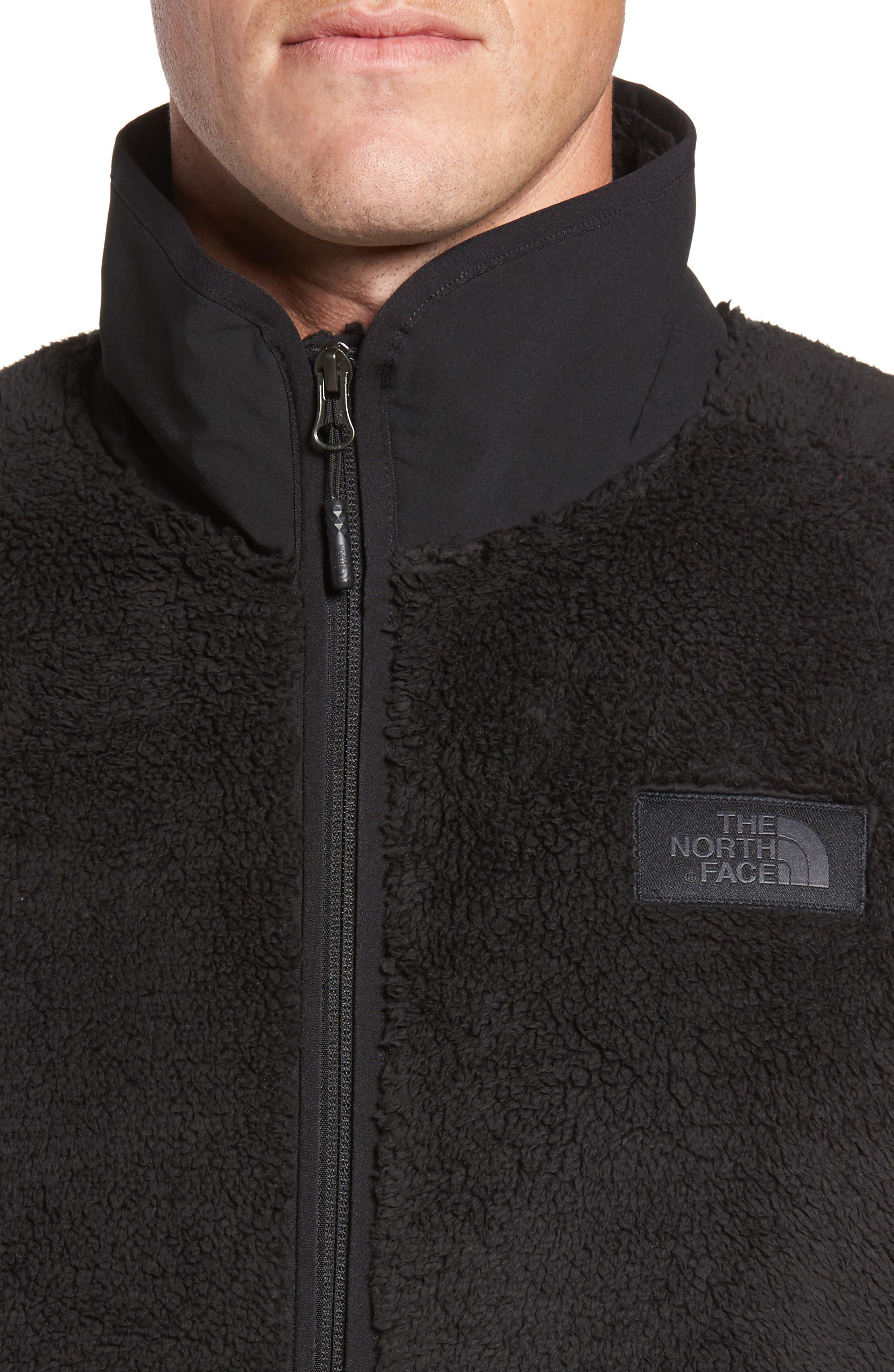 Campshire Fleece Vest,                             Alternate thumbnail 4, color,                             Black