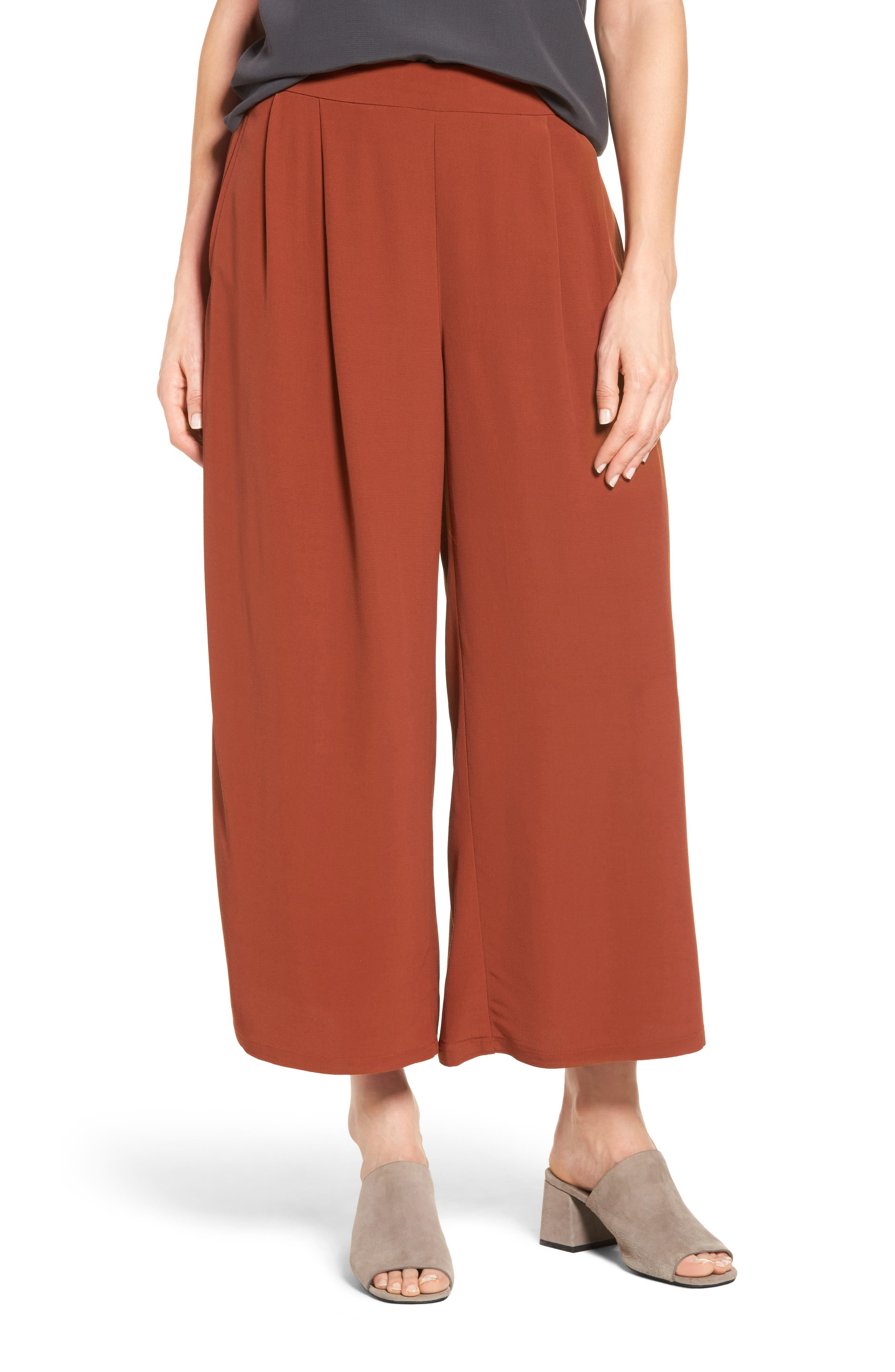 Alternate Image 1 Selected - Eileen Fisher Wide Leg Pants (Regular & Petite)