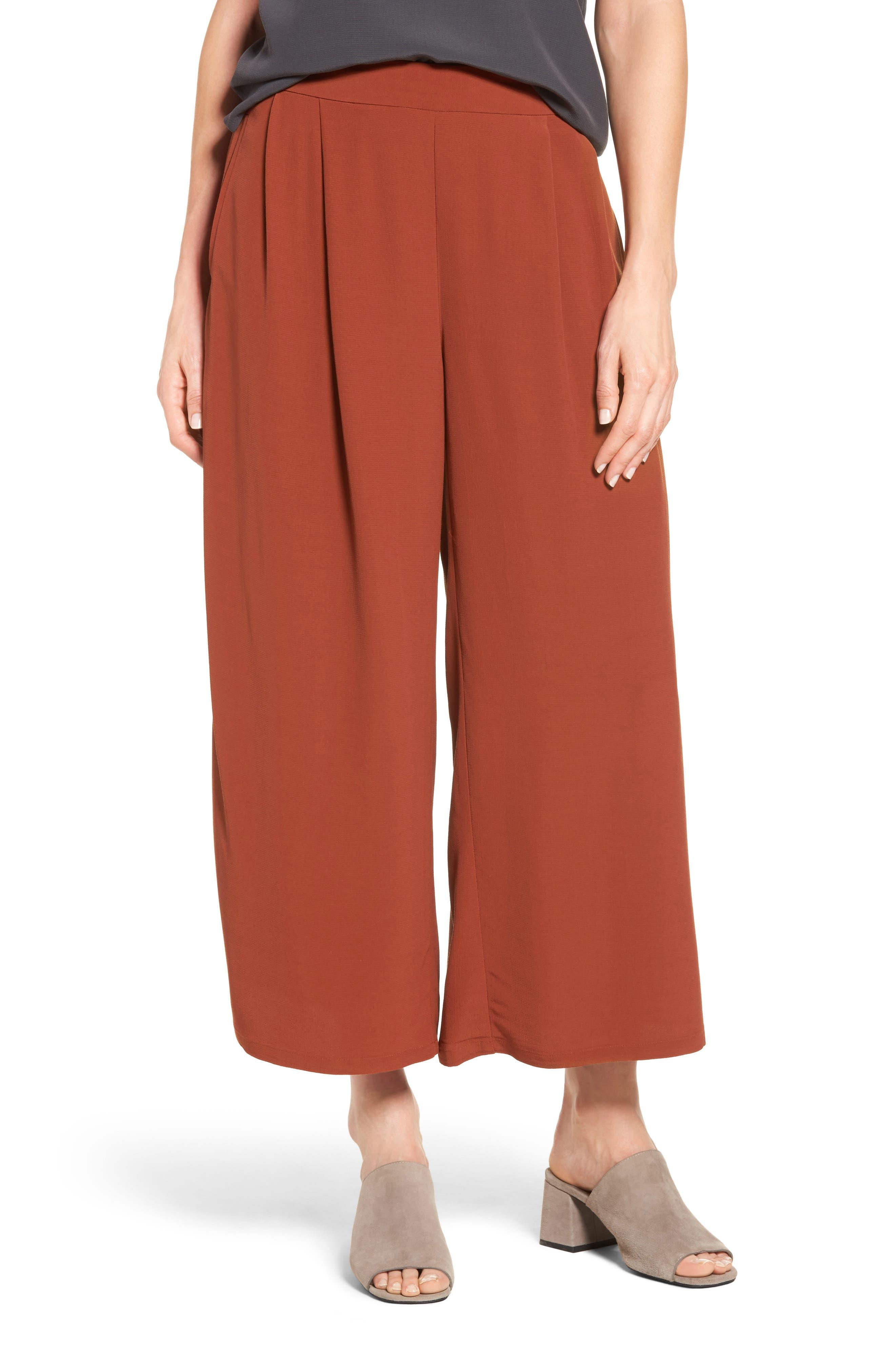 Wide Leg Pants,                         Main,                         color, Paprika