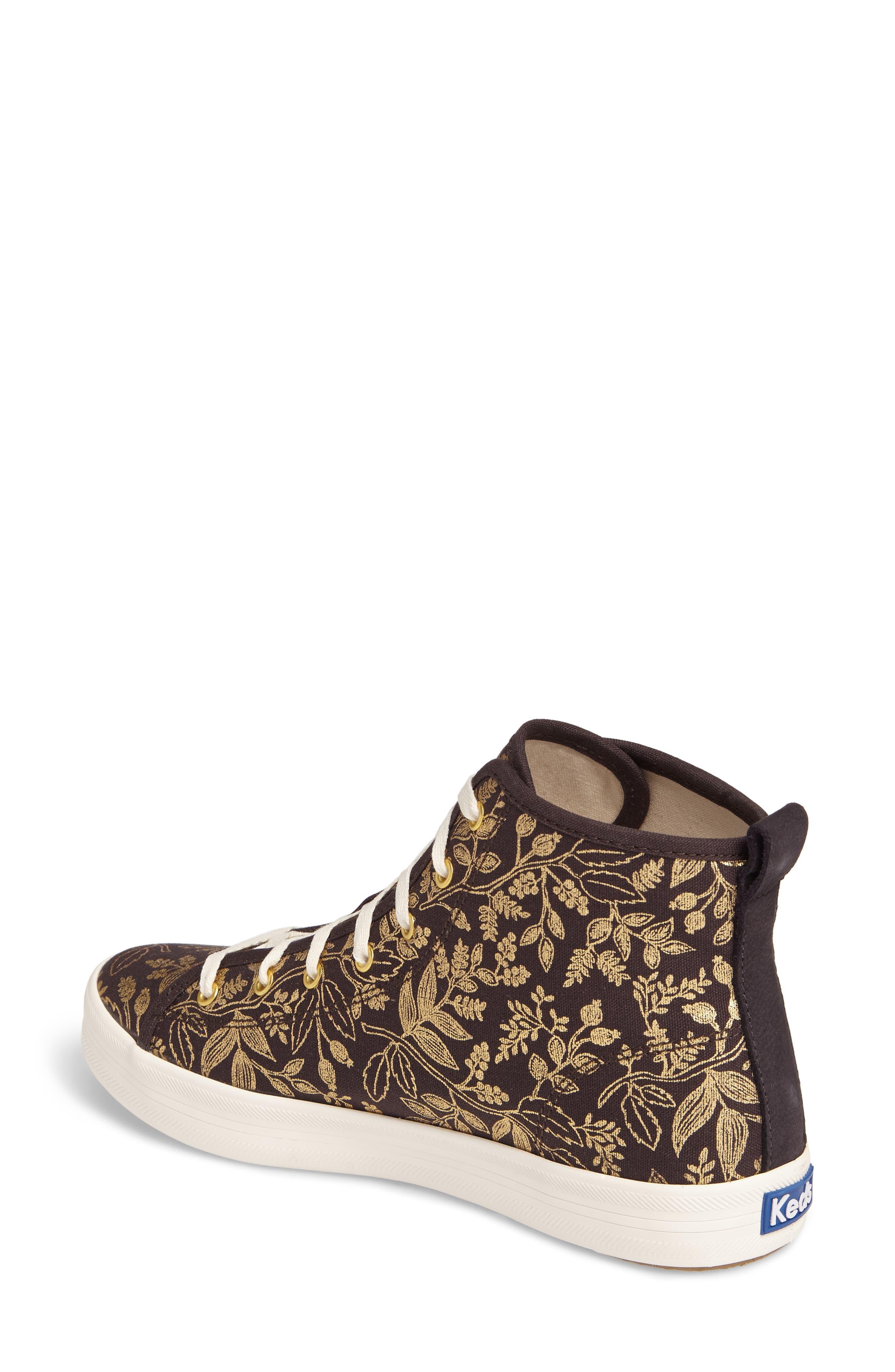 Alternate Image 2  - Keds® x Rifle Paper Co. Queen Anne High Top Sneaker (Women)