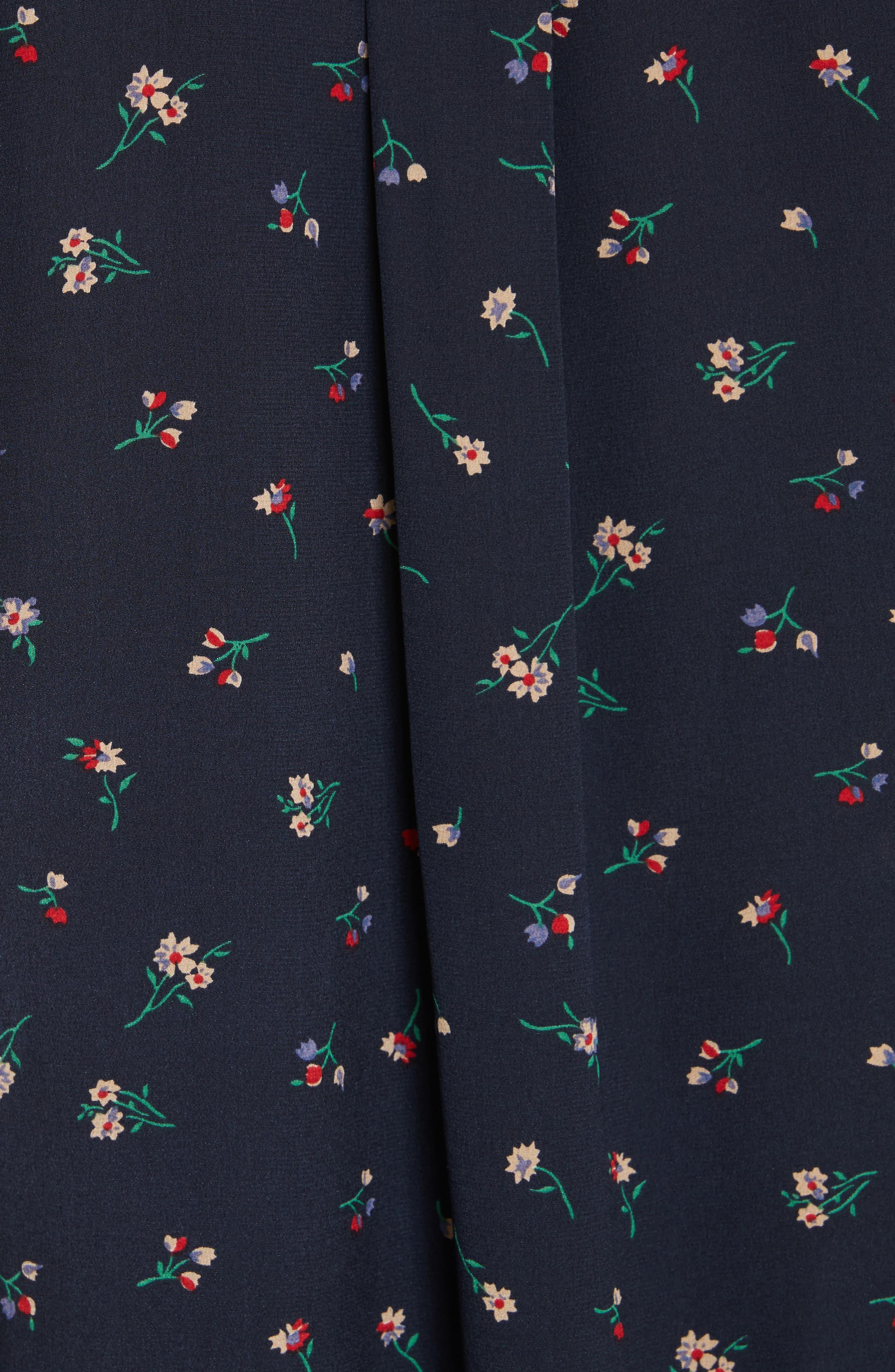 Alternate Image 4  - Theory Tie Cuff Floral Print Silk Shirt