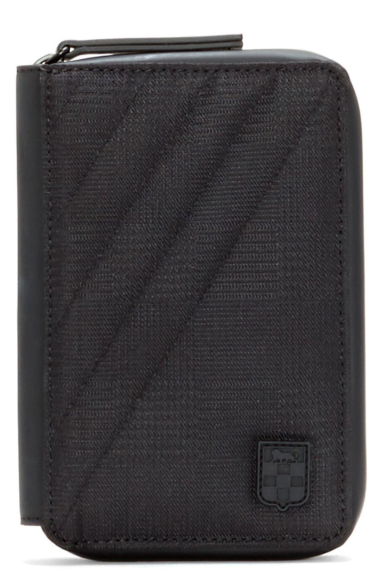 Race Passport Case,                         Main,                         color, Black Plaid