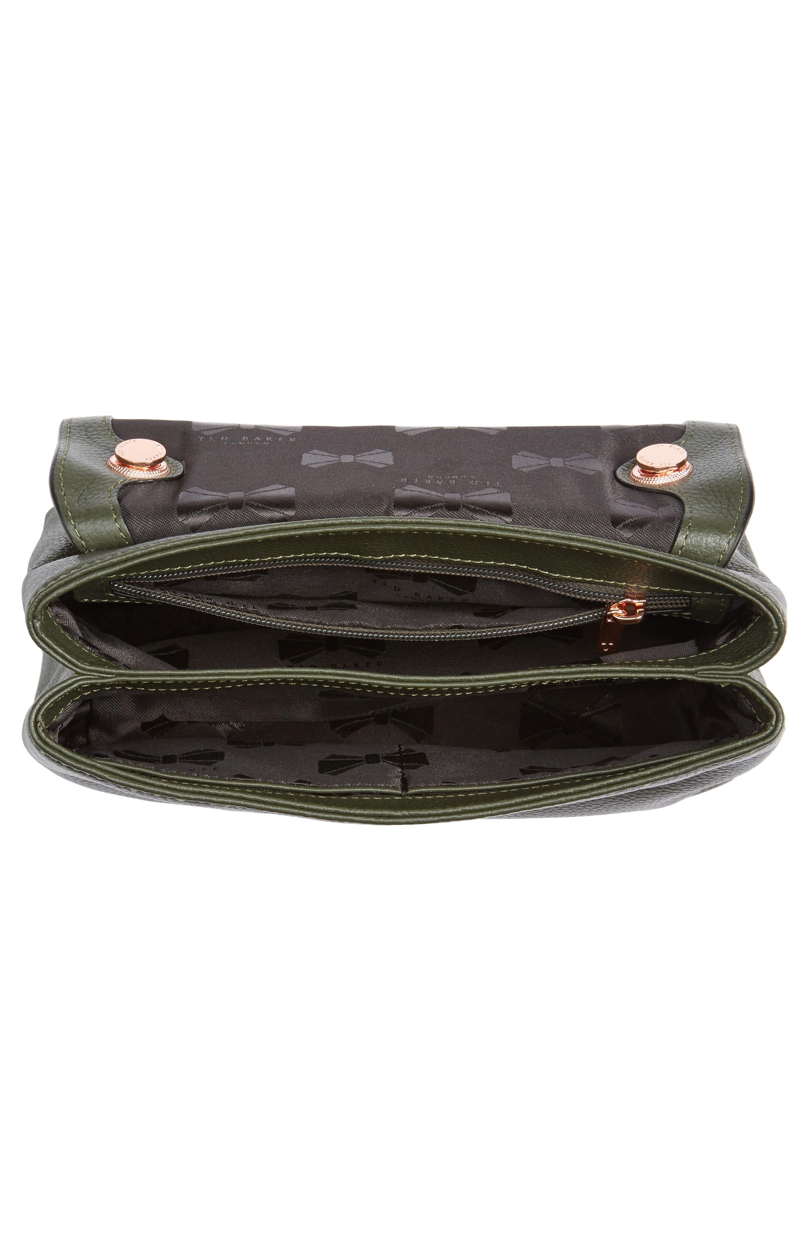 Sorikai Leather & Suede Crossbody Bag,                             Alternate thumbnail 3, color,                             Khaki