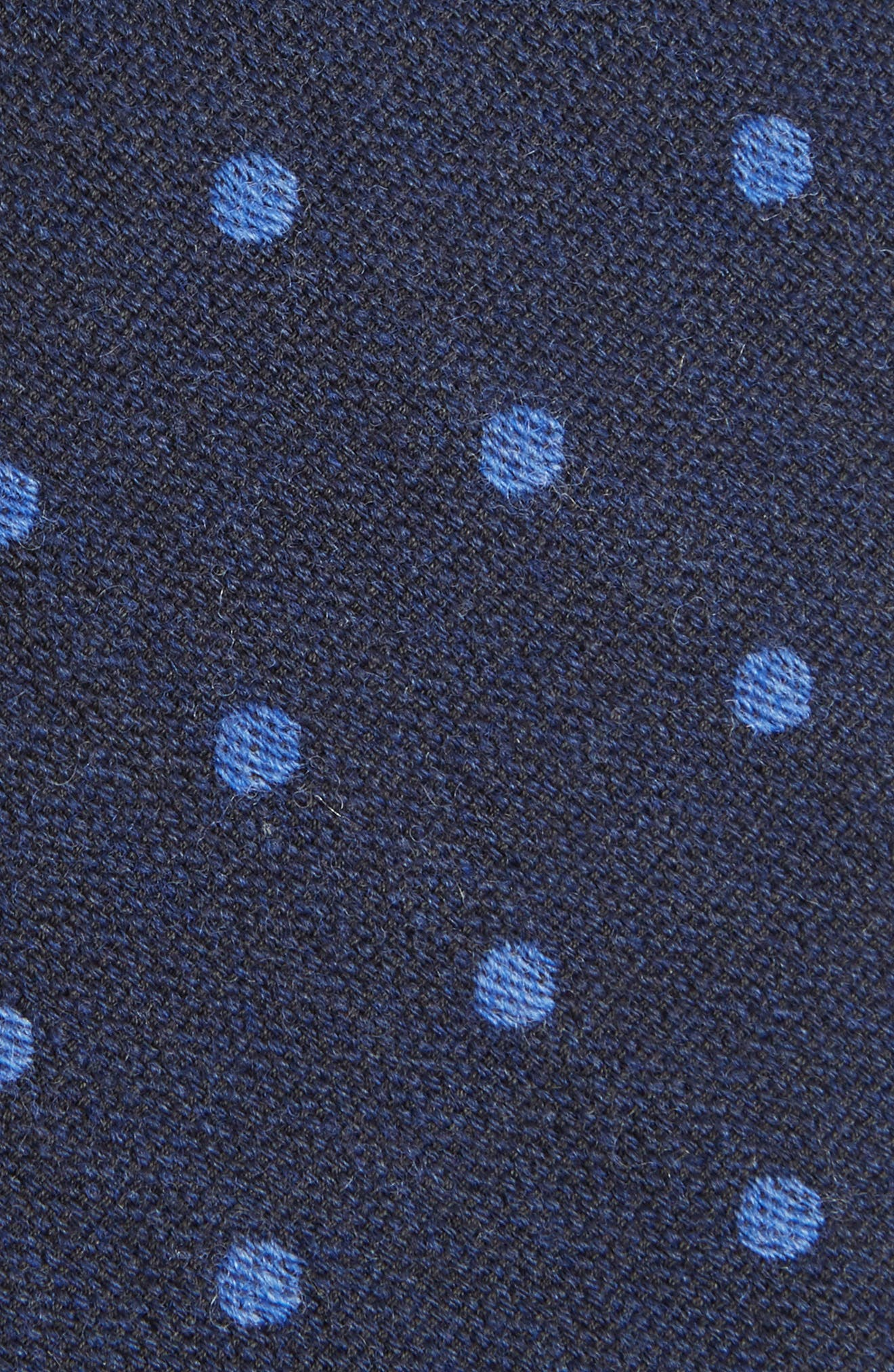 Newell Dot Wool Tie,                             Alternate thumbnail 2, color,                             Dot After Midnight
