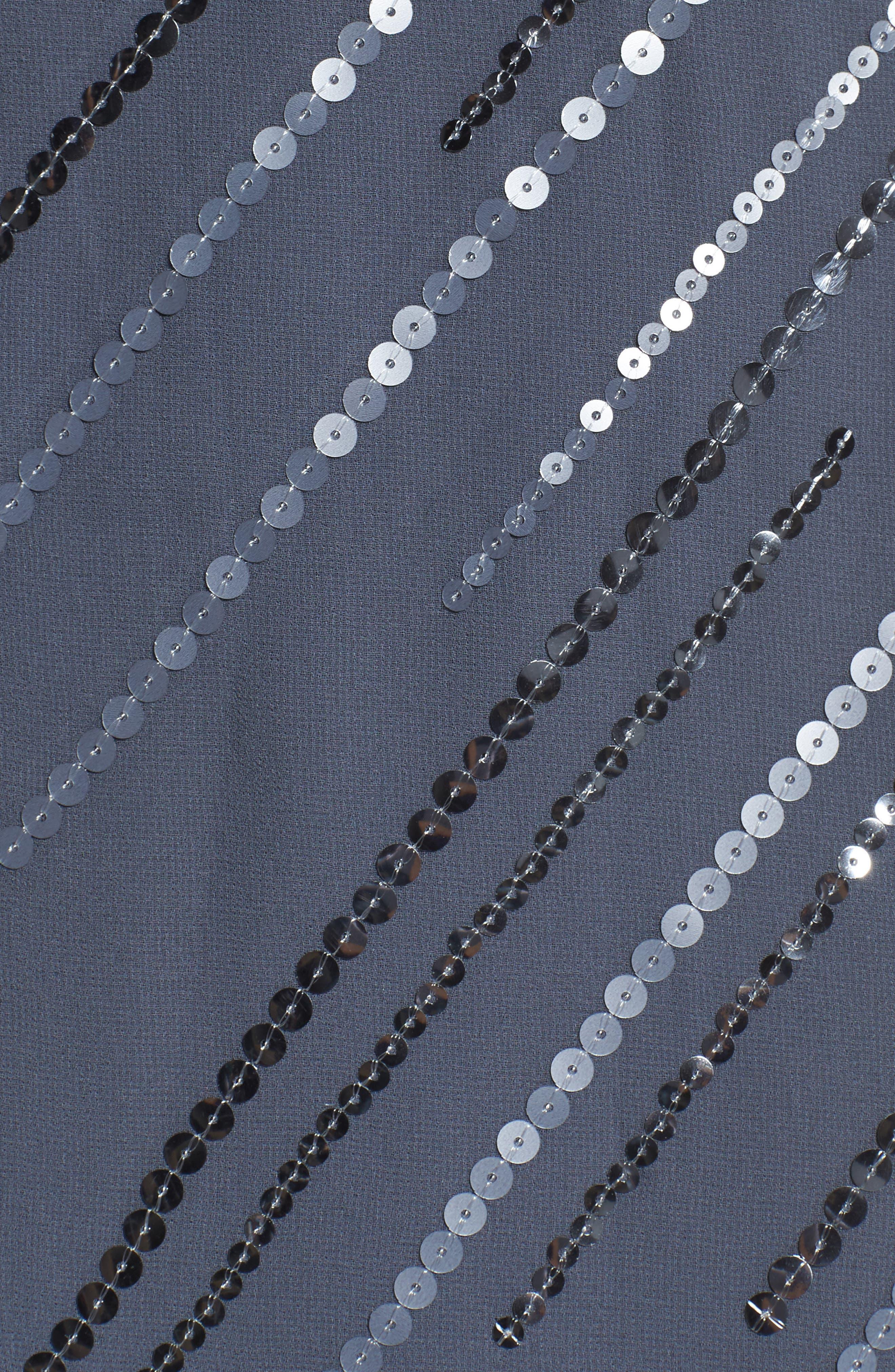 Sequin A-Line Dress,                             Alternate thumbnail 5, color,                             Typhoon