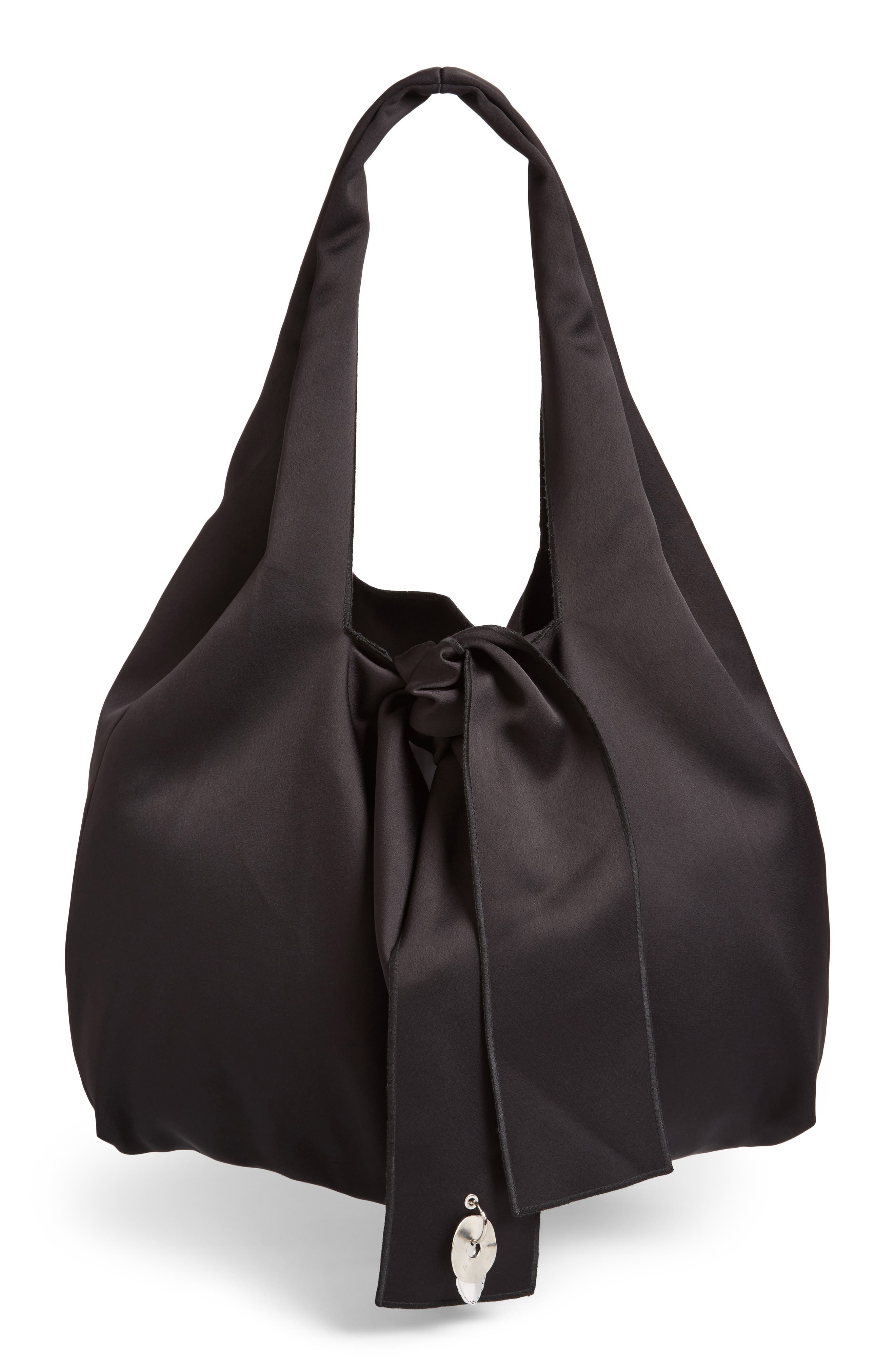 Oversize Tie Front Tote,                         Main,                         color, Black