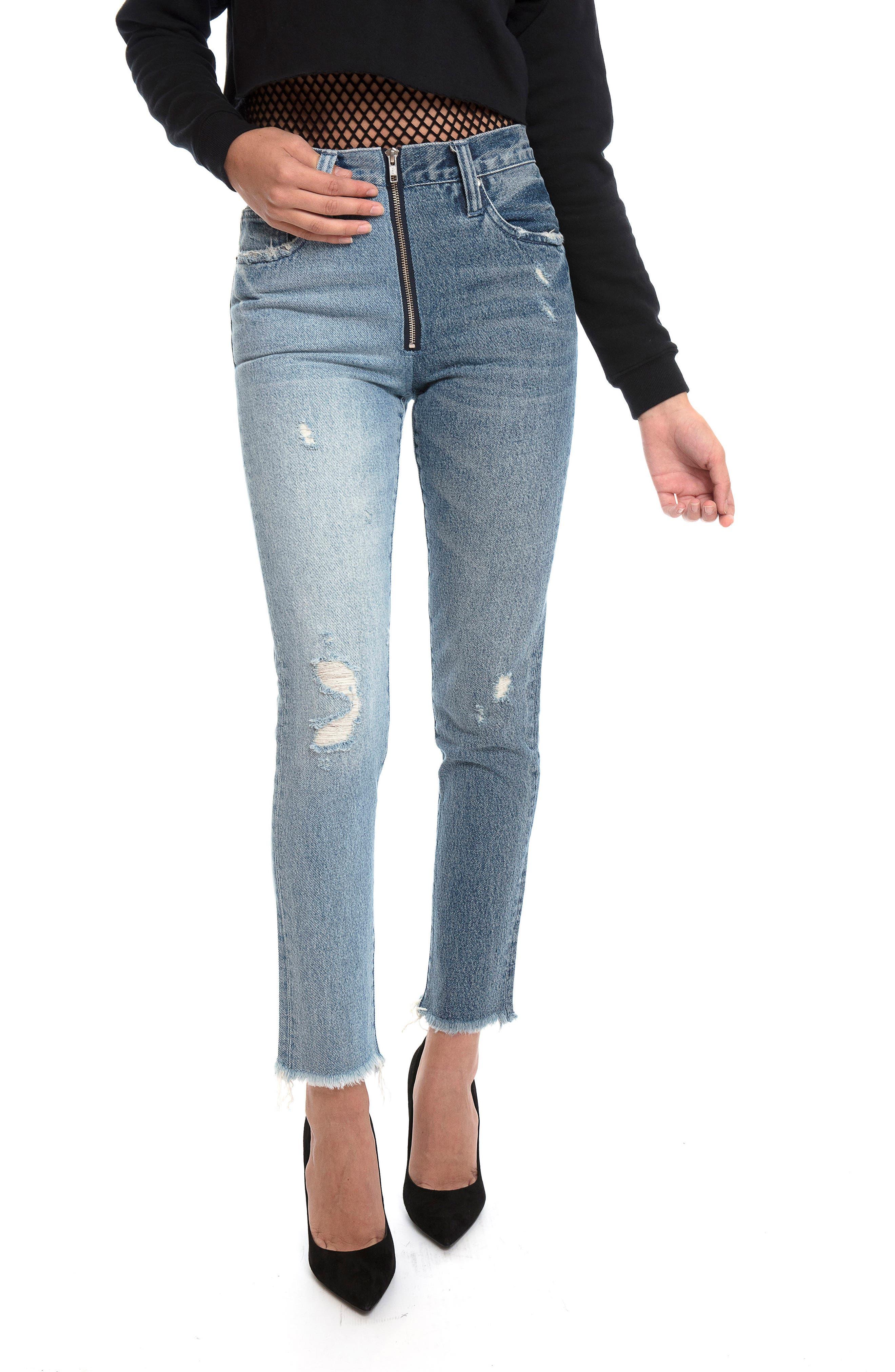 Chevelle Ankle Skinny Jeans,                             Alternate thumbnail 4, color,                             Indigo