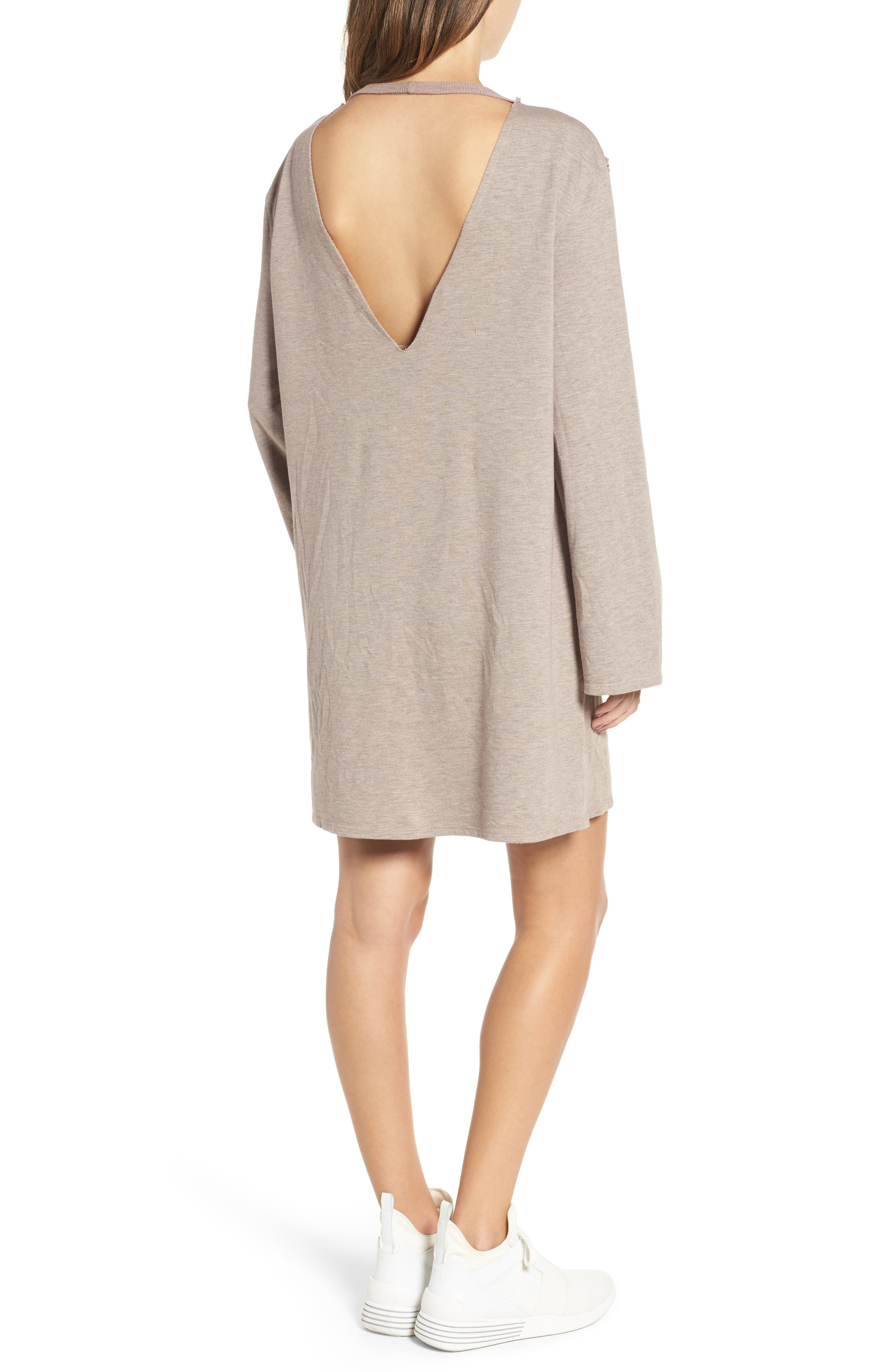 Alternate Image 2  - PST by Project Social T Low Back Sweatshirt Dress