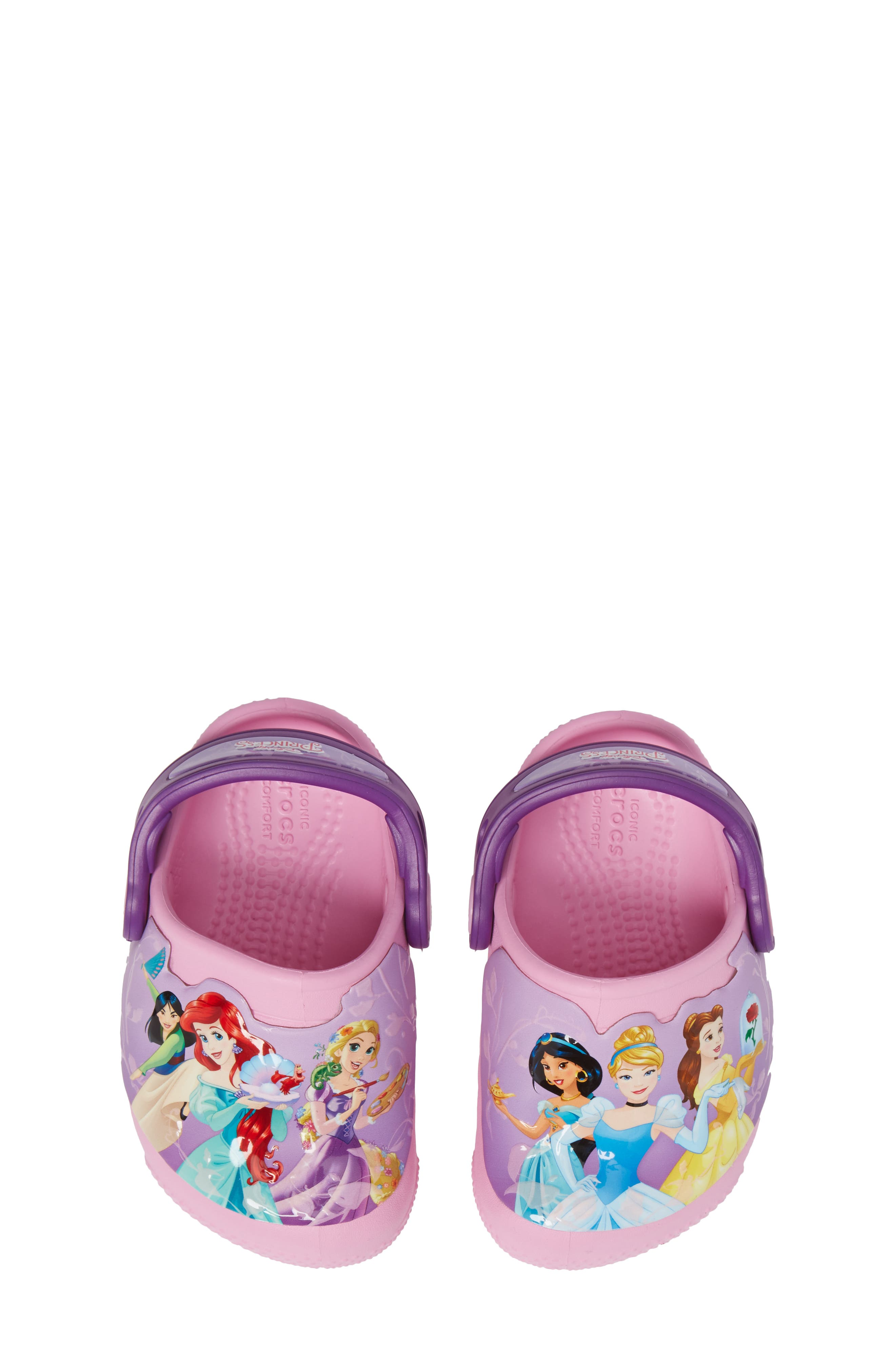 Fun ab Lights Disney<sup>®</sup> Princesses Light-Up Slip-On,                             Alternate thumbnail 5, color,                             Amethyst