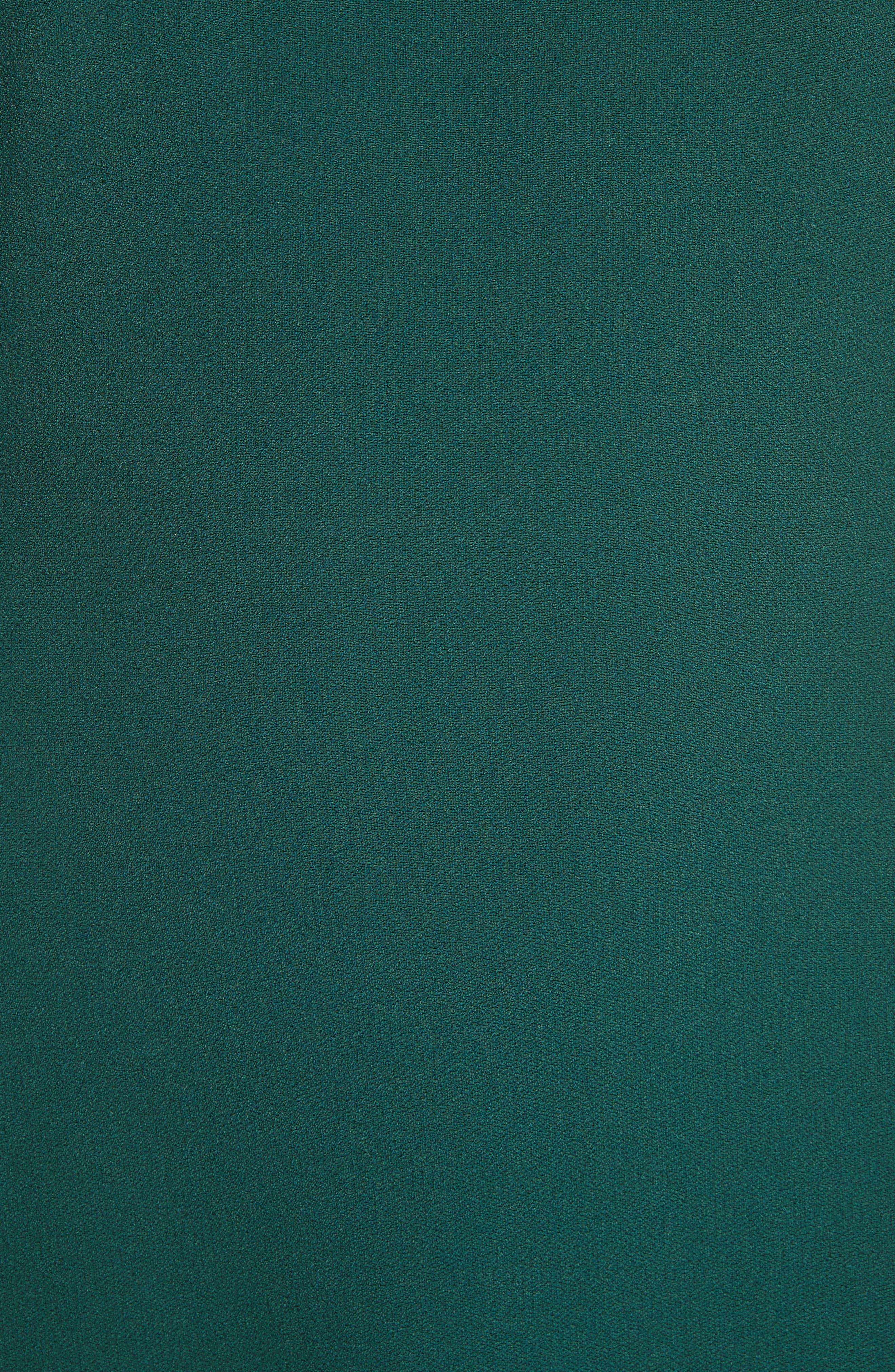 Kensington Lace-Up A-Line Dress,                             Alternate thumbnail 5, color,                             Bright Hunter