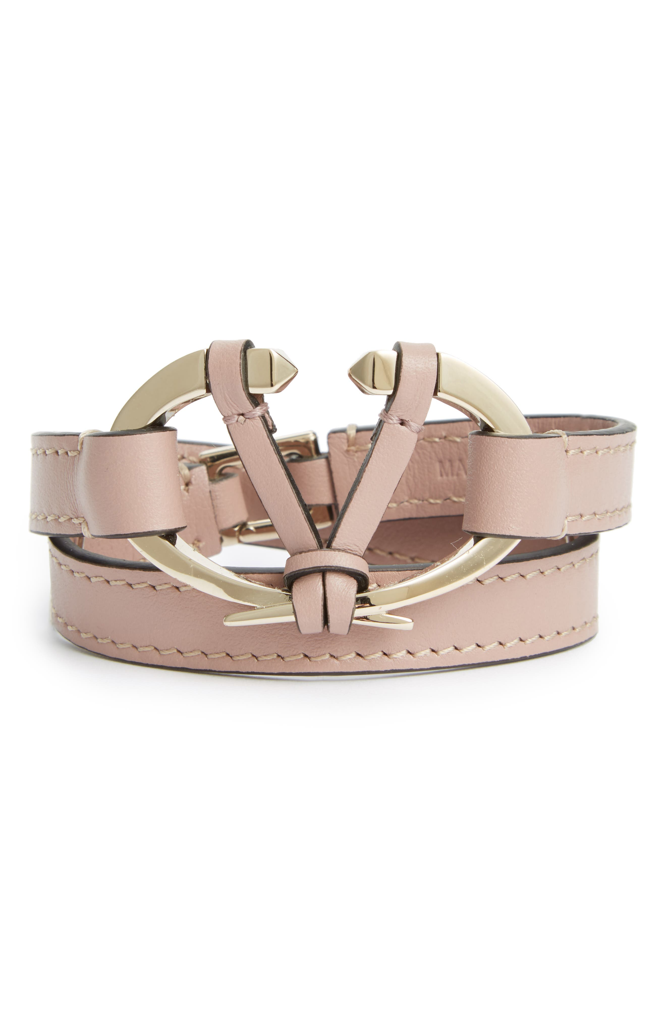 VALENTINO GARAVANI Leather Wrap Bracelet