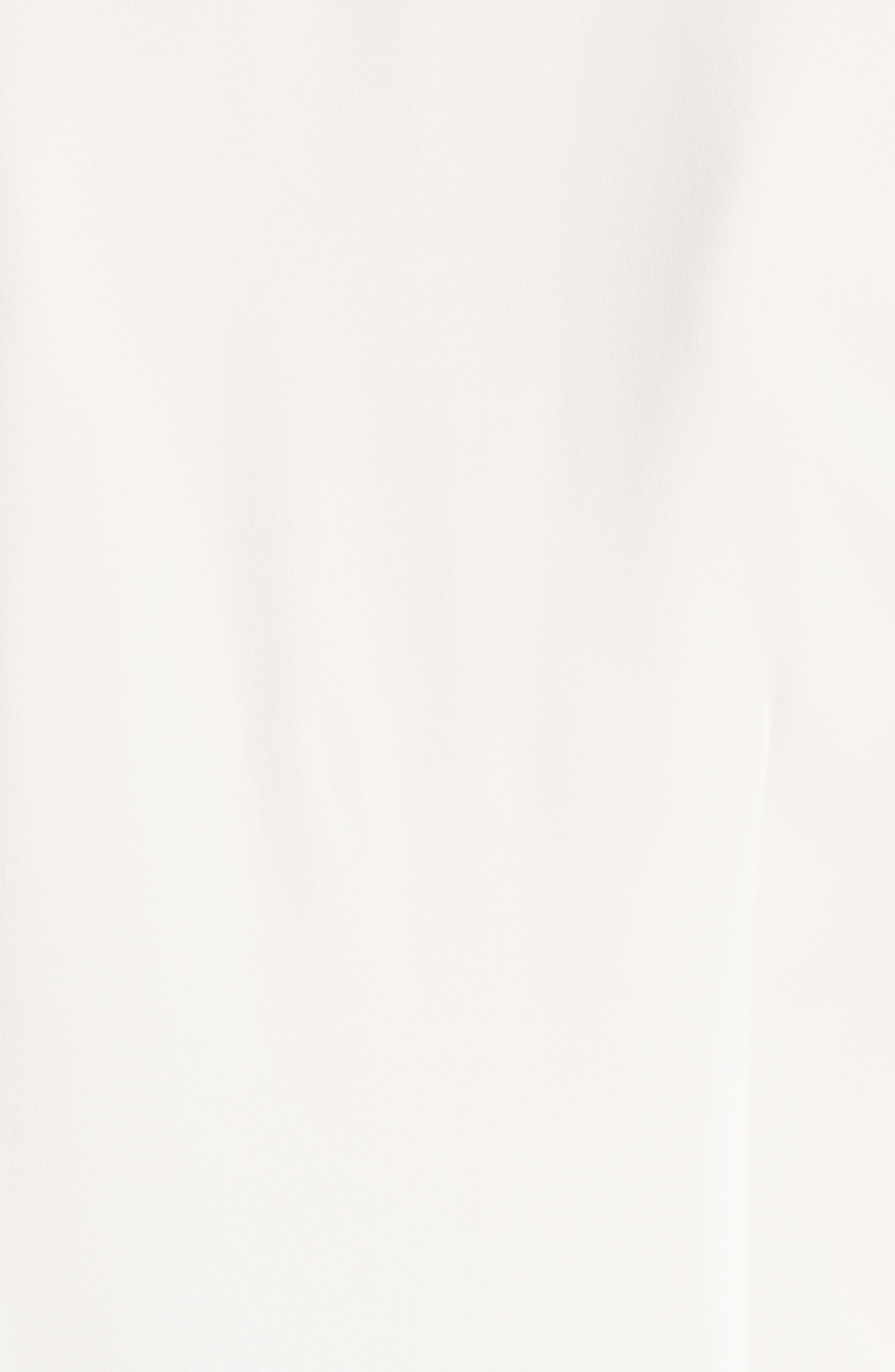 Fluid Silk Georgette Top,                             Alternate thumbnail 4, color,                             Ivory
