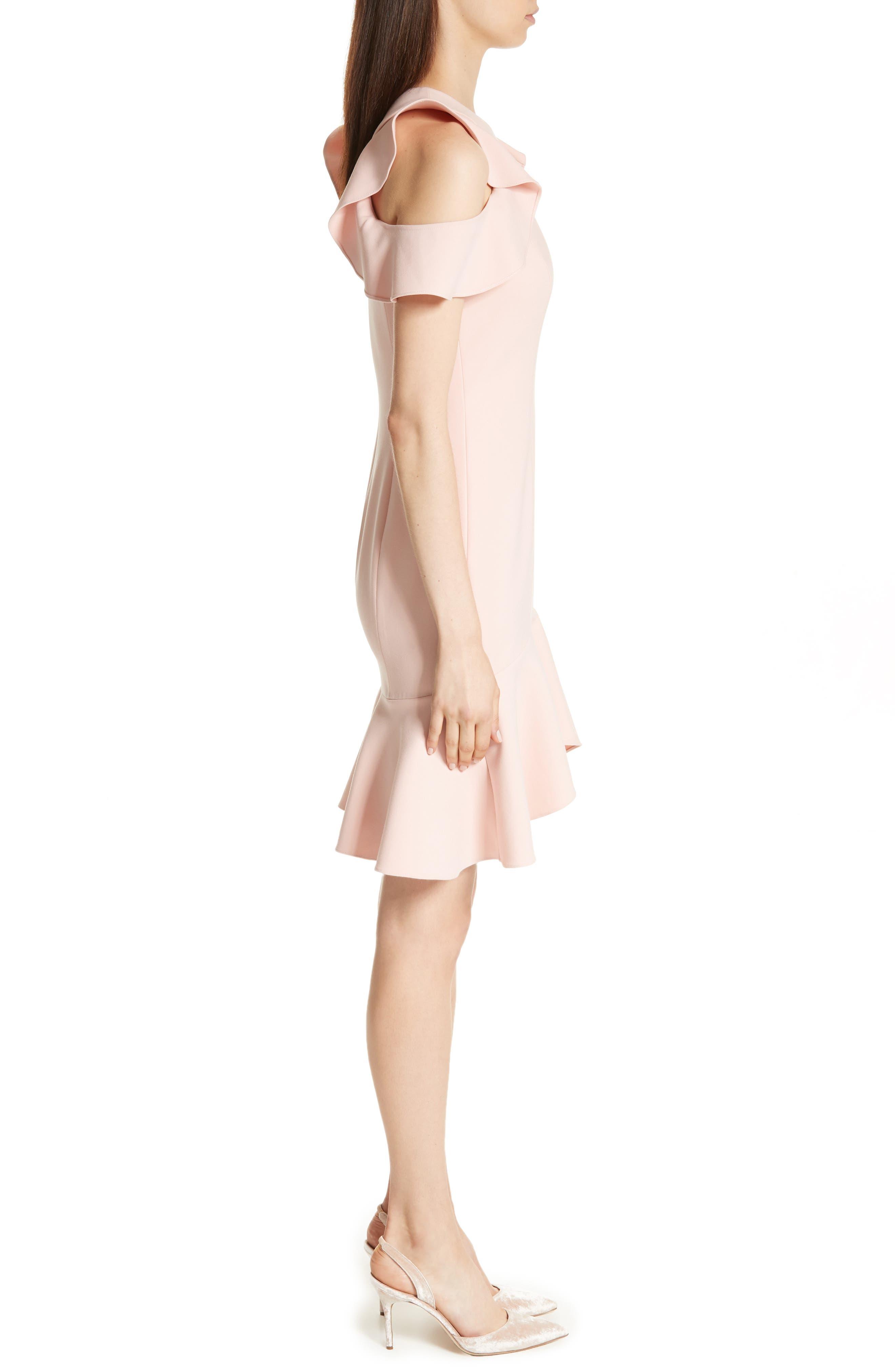 Alternate Image 3  - Cinq à Sept Micah Ruffle Cold Shoulder Dress