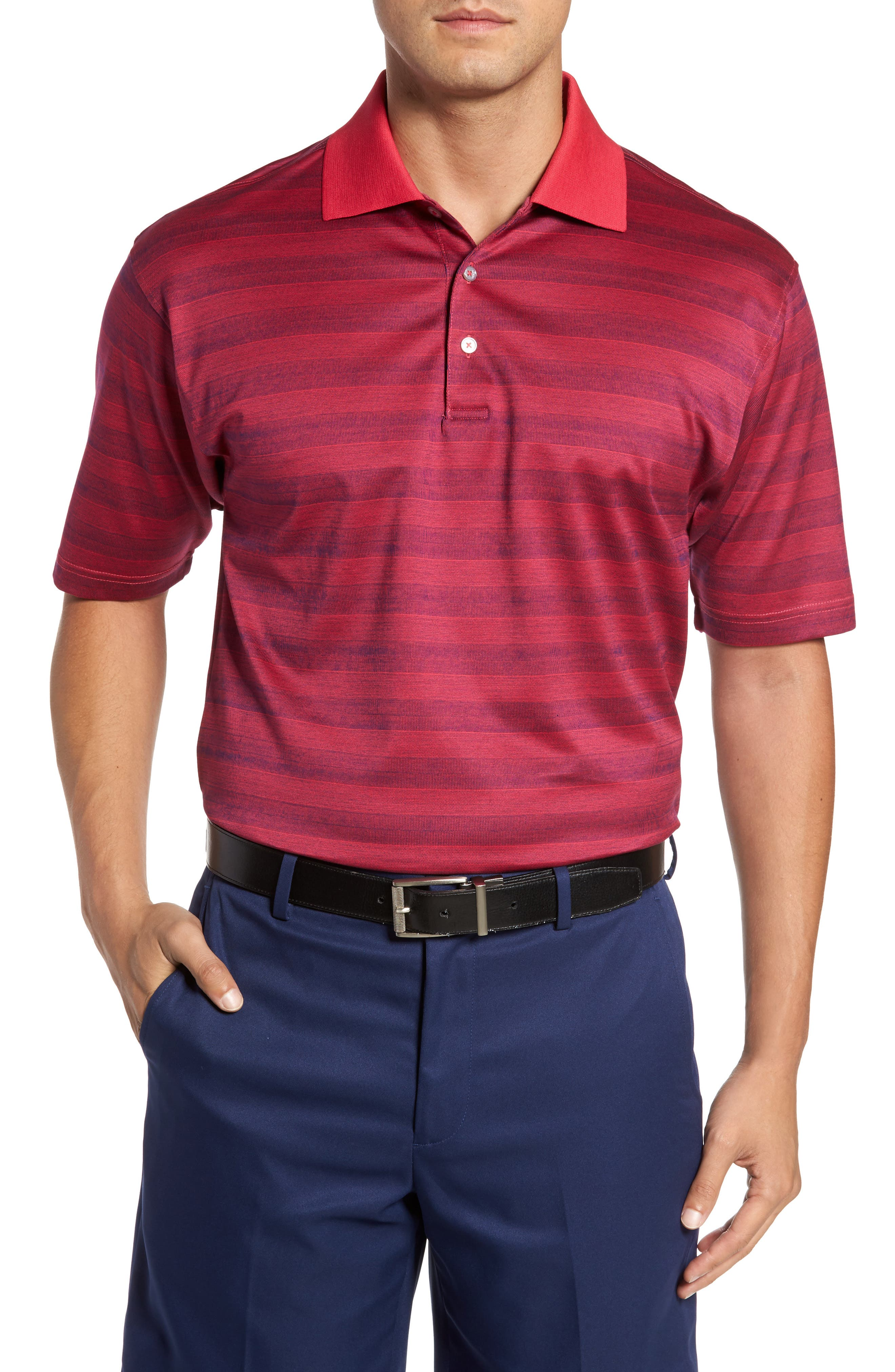 Bobby Jones Greenwich Stripe Jacquard Polo