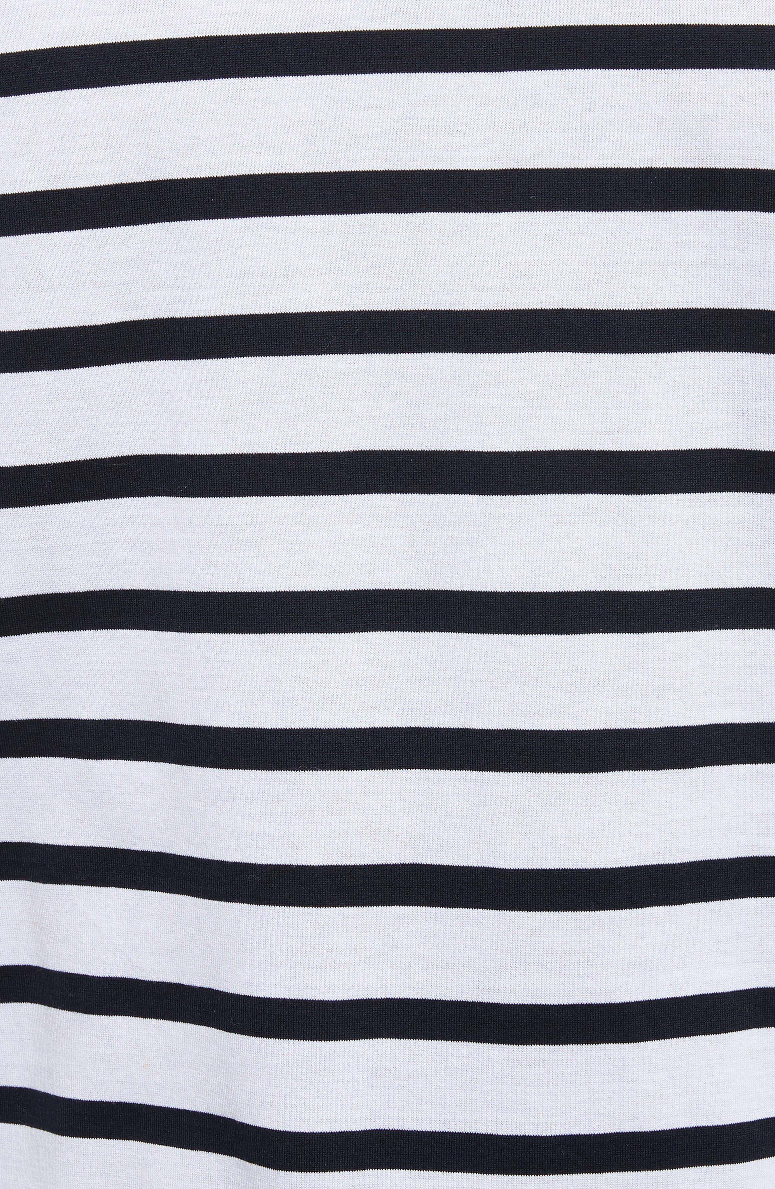 Henry Stripe Long Sleeve T-Shirt,                             Alternate thumbnail 5, color,                             White/ Navy