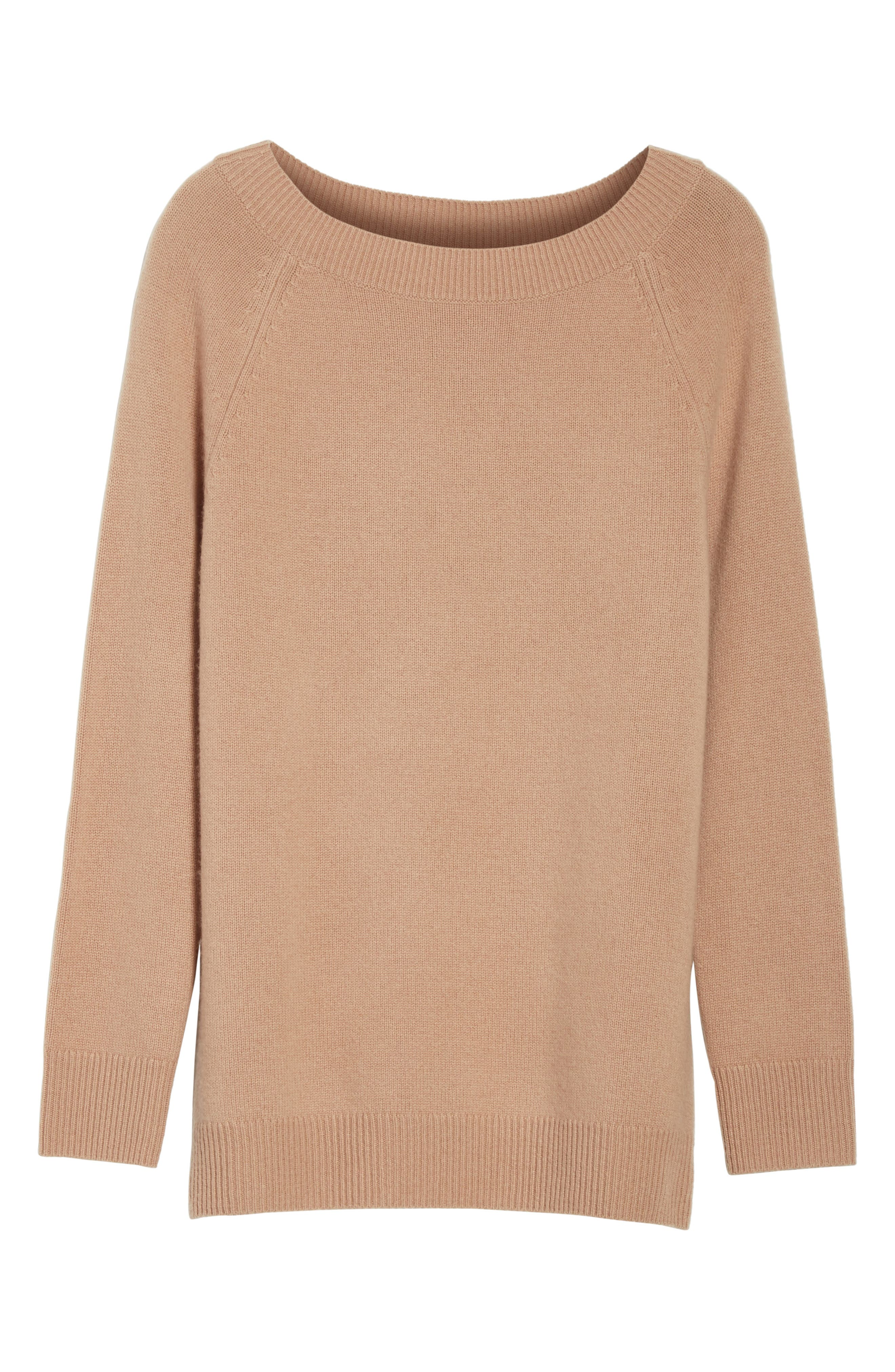 Cody Wool & Cashmere Boatneck Sweater,                             Alternate thumbnail 6, color,                             Camel