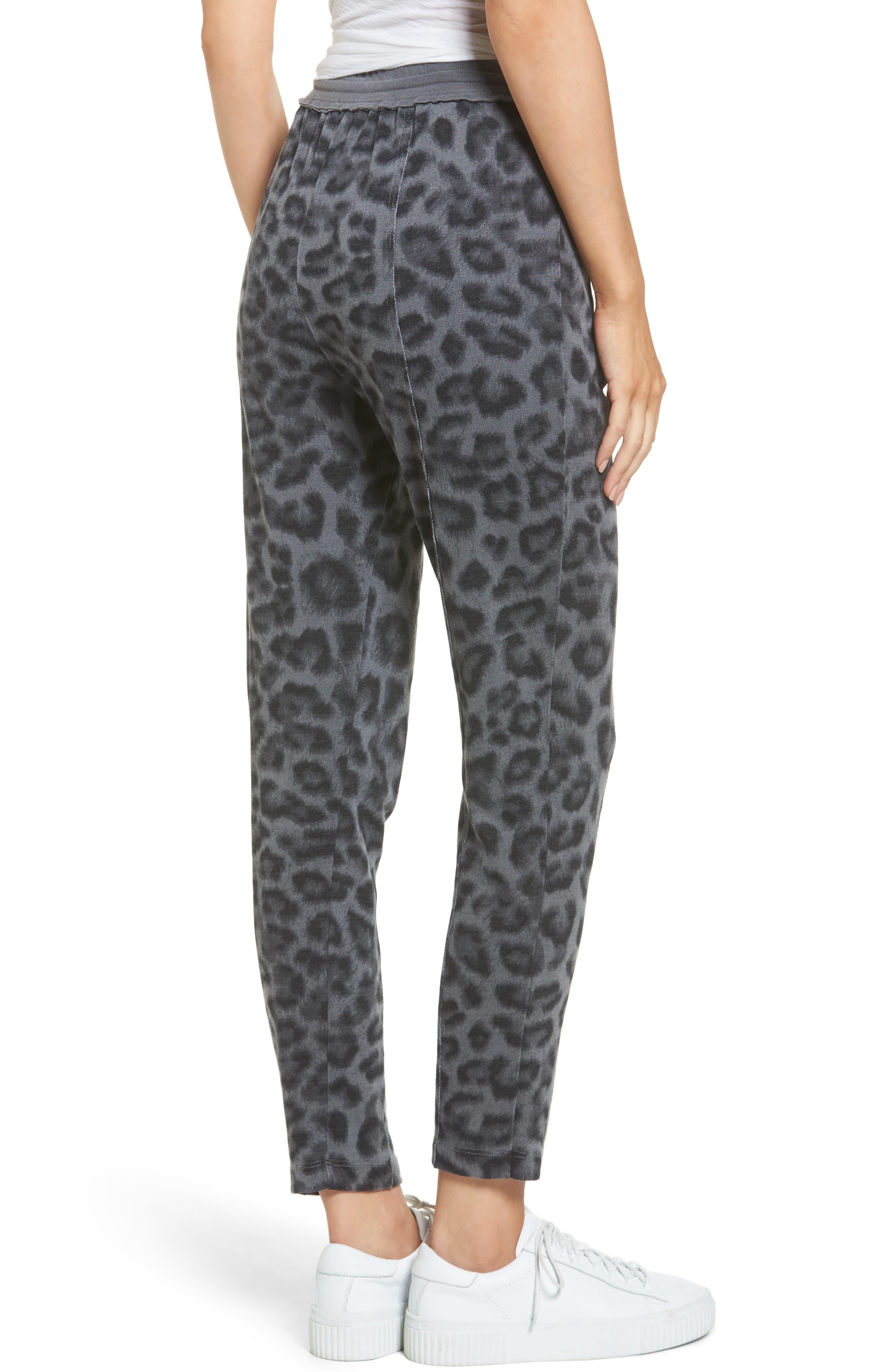 Leopard Print Jogger Pants,                             Alternate thumbnail 2, color,                             Lead