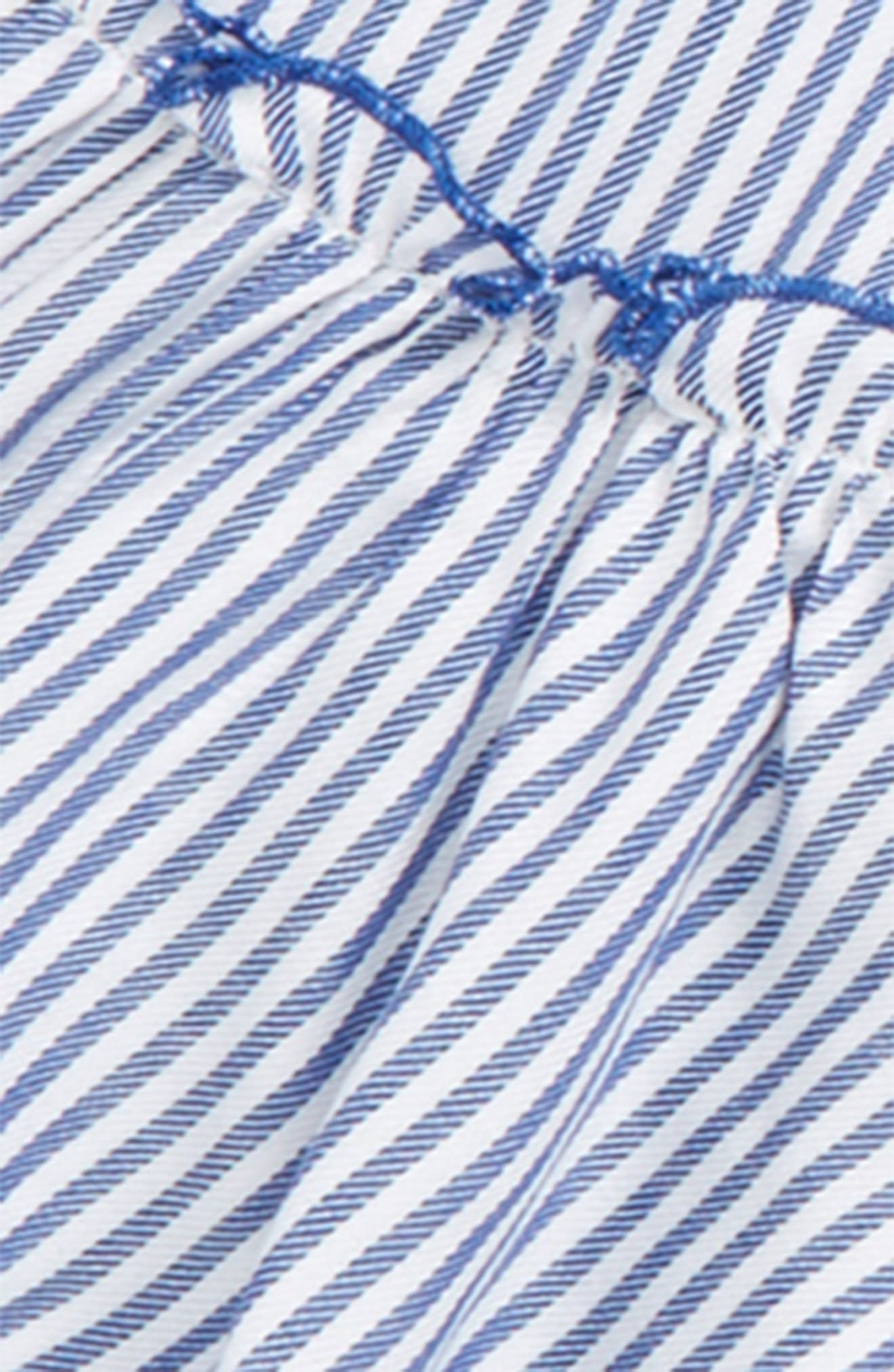 Stripe Off the Shoulder Top,                             Alternate thumbnail 2, color,                             Blue/ White Stripe