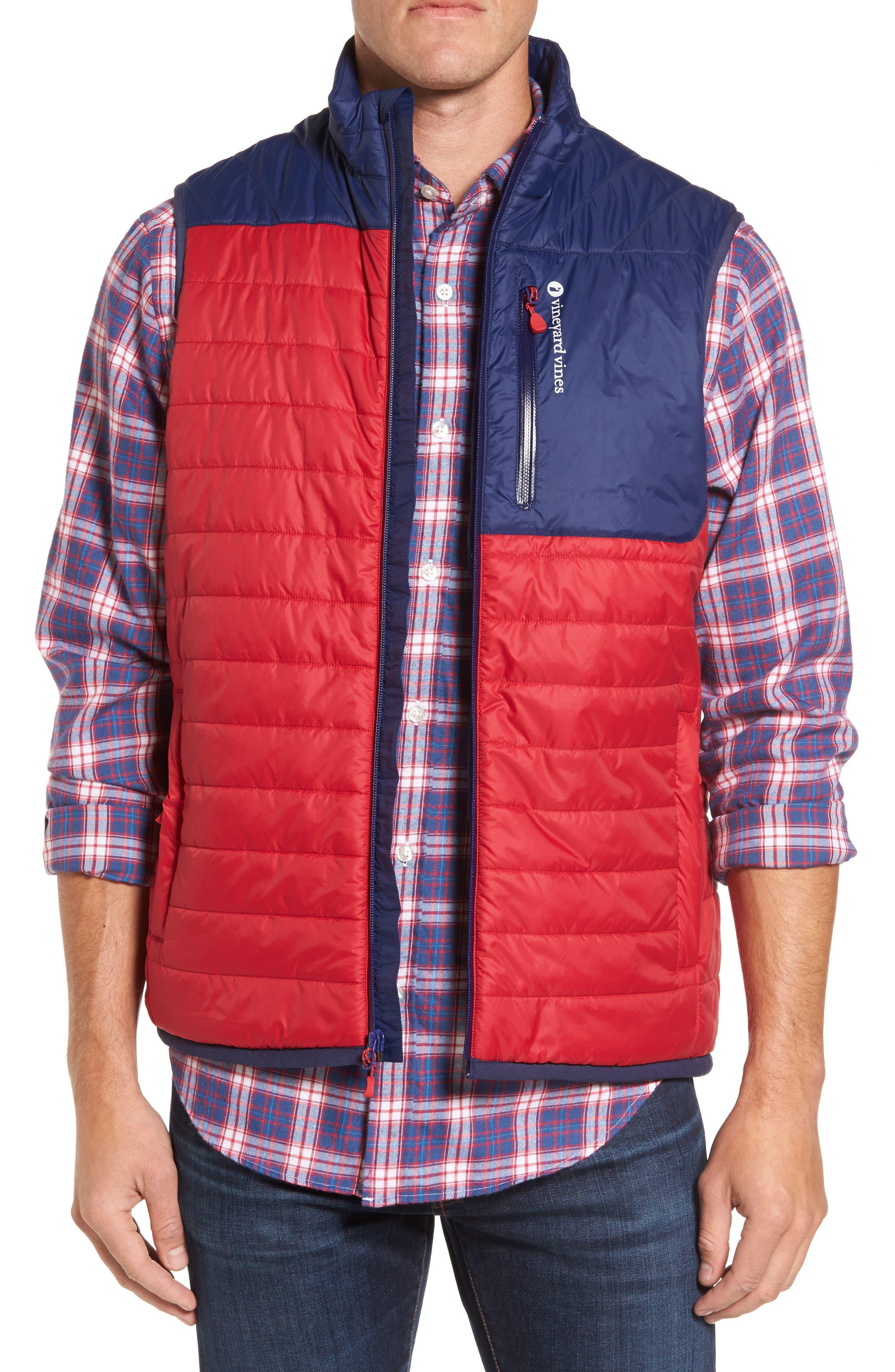 Mountain Weekend Colorblock PrimaLoft<sup>®</sup> Vest,                         Main,                         color, Lifeguard