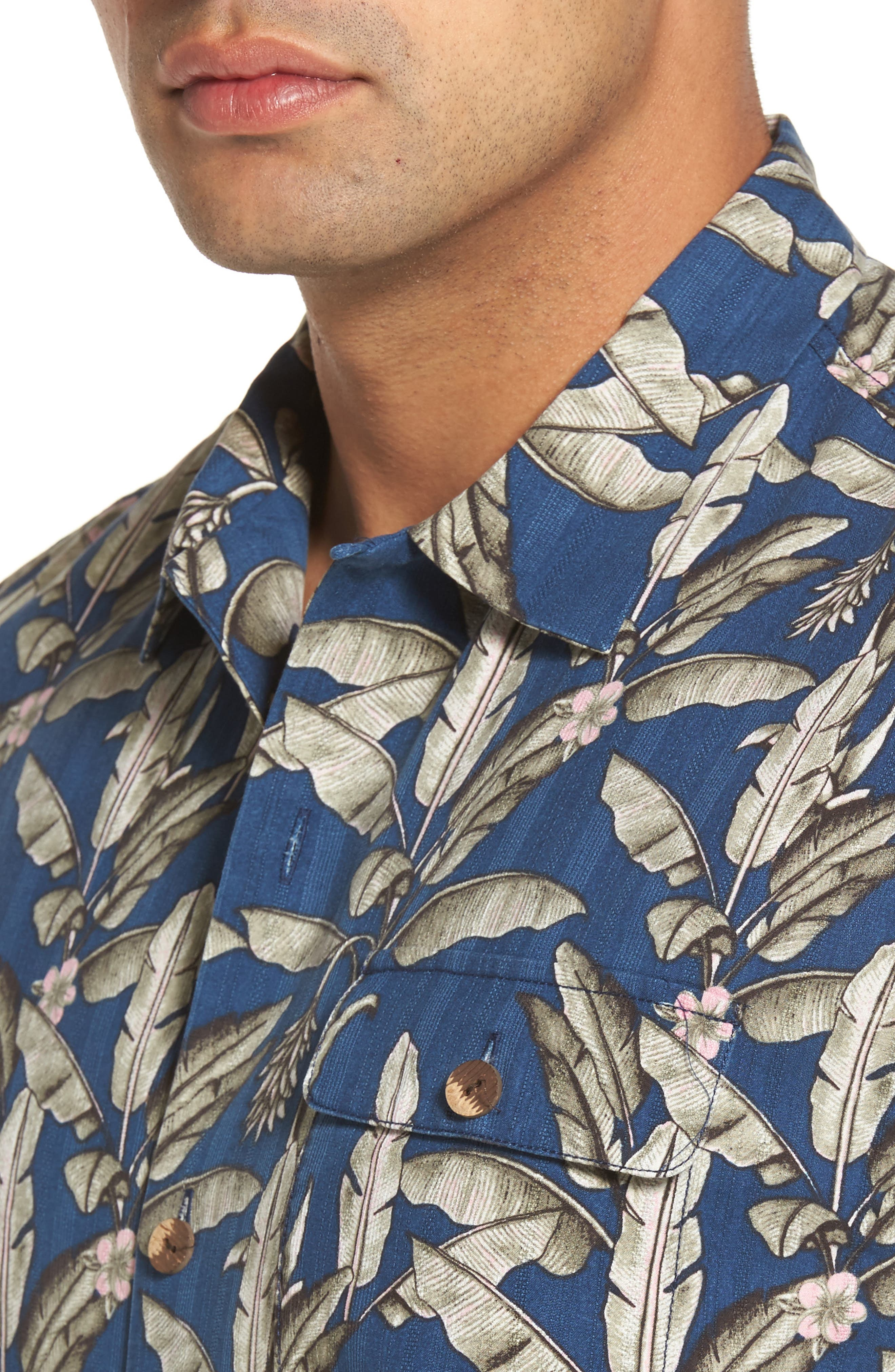 Alternate Image 4  - Tommy Bahama Sahara Fronds Silk Woven Shirt