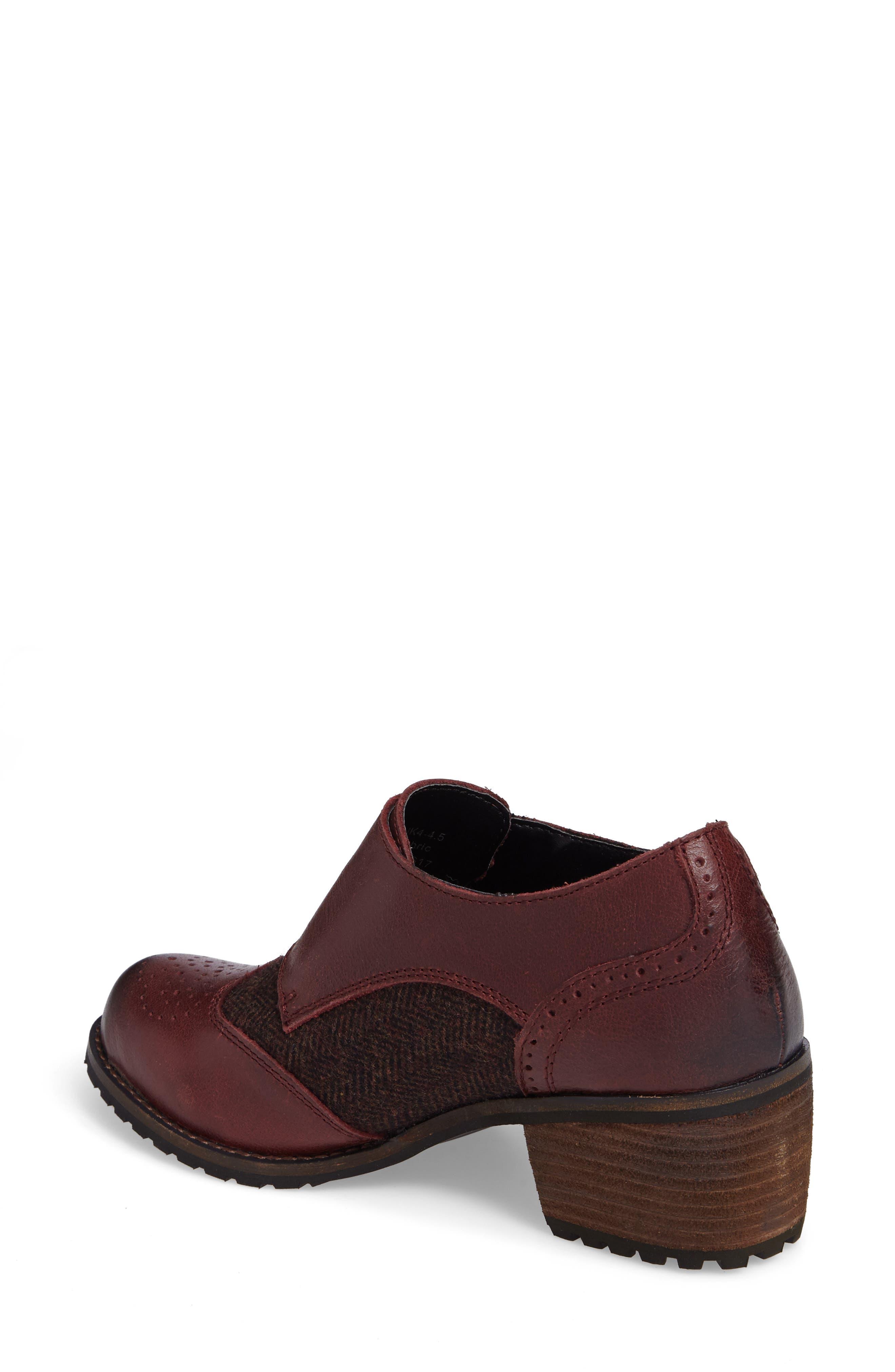 Dina Double Monk Strap Ankle Boot,                             Alternate thumbnail 2, color,                             Merlot Leather