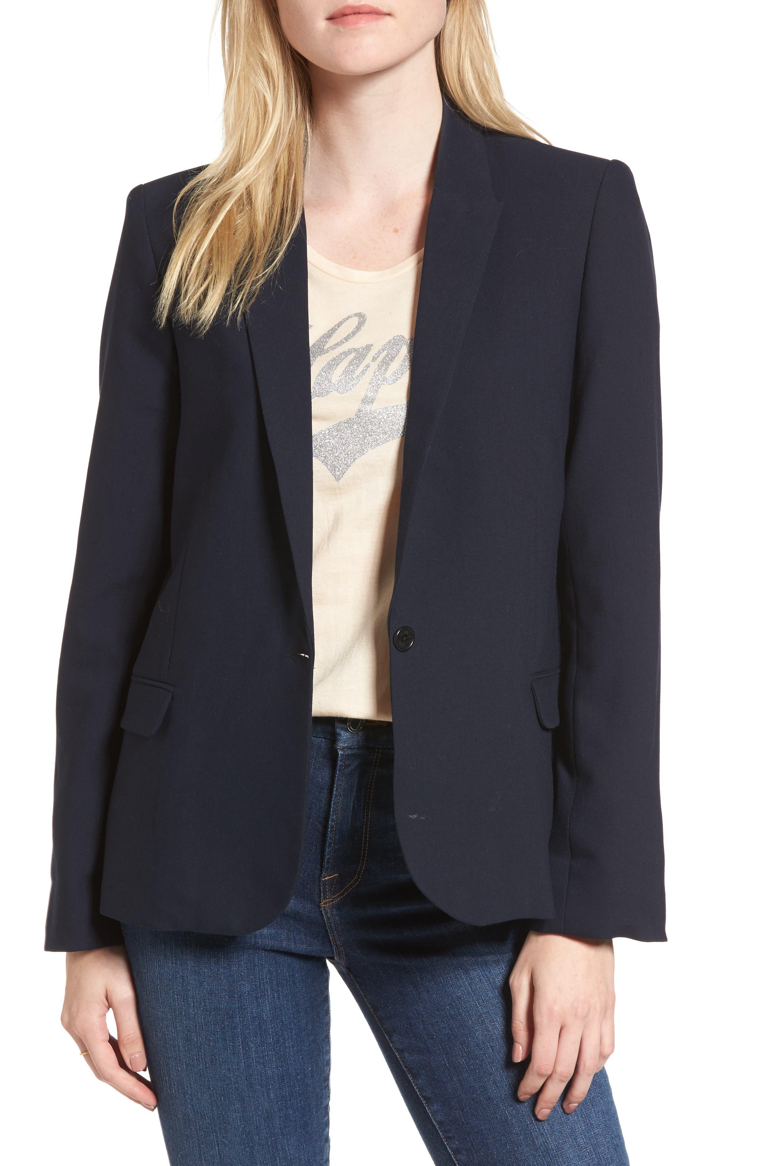 Victor Love Bis Studded Jacket,                         Main,                         color, Marine