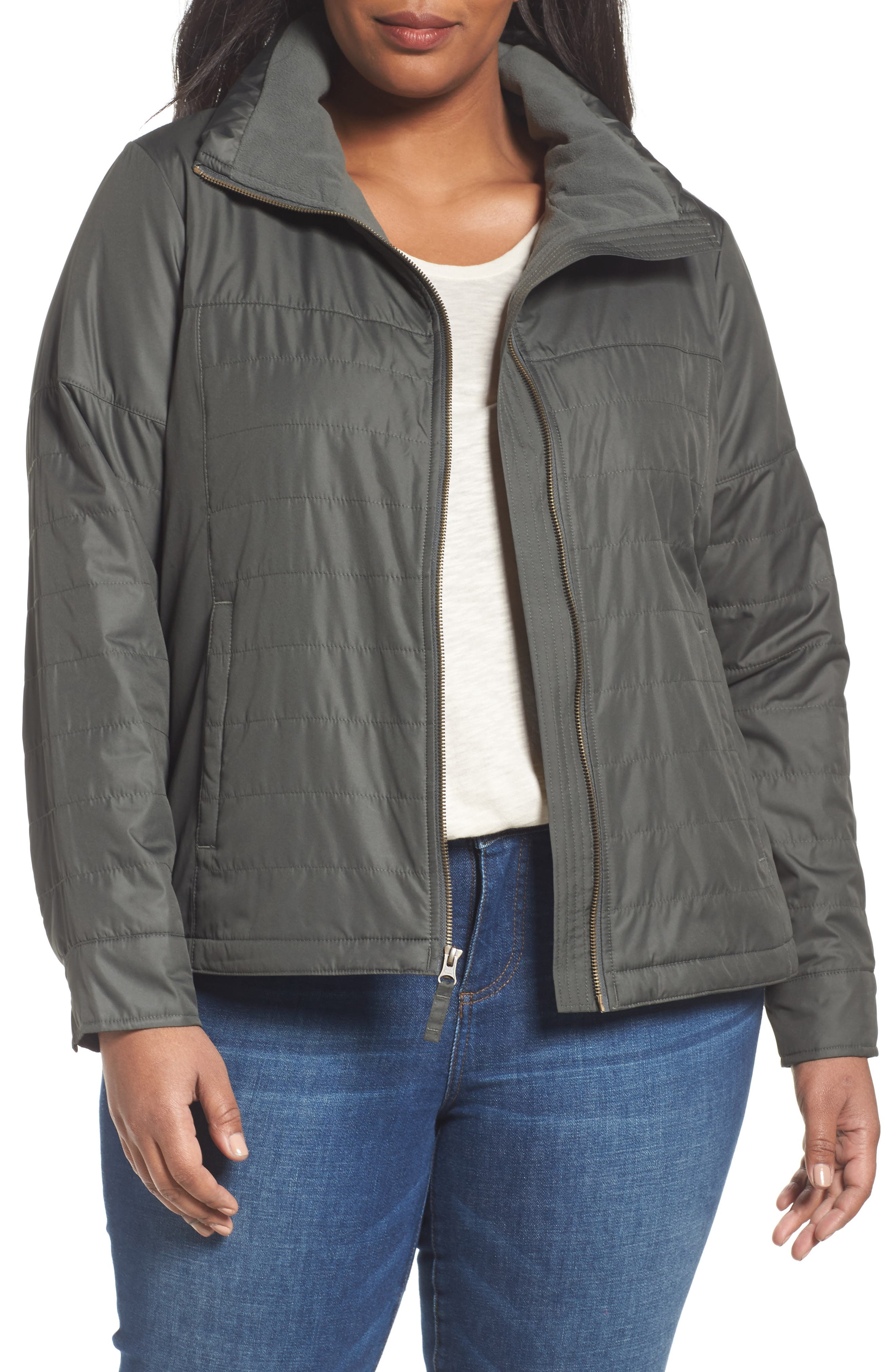 Alternate Image 1 Selected - Columbia Shining Light Quilted Jacket (Plus Size)