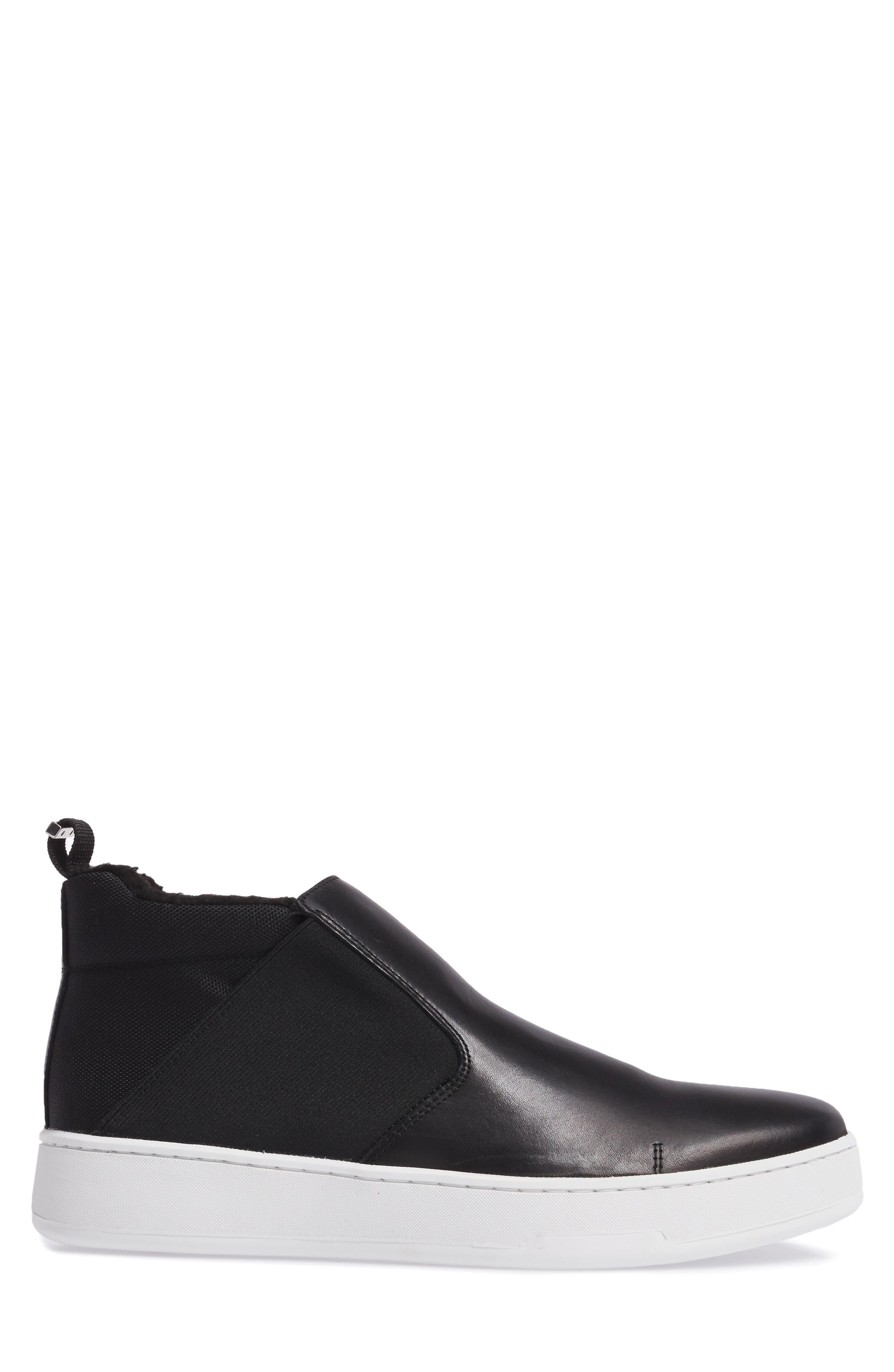 Noble Slip-On,                             Alternate thumbnail 3, color,                             Black Leather
