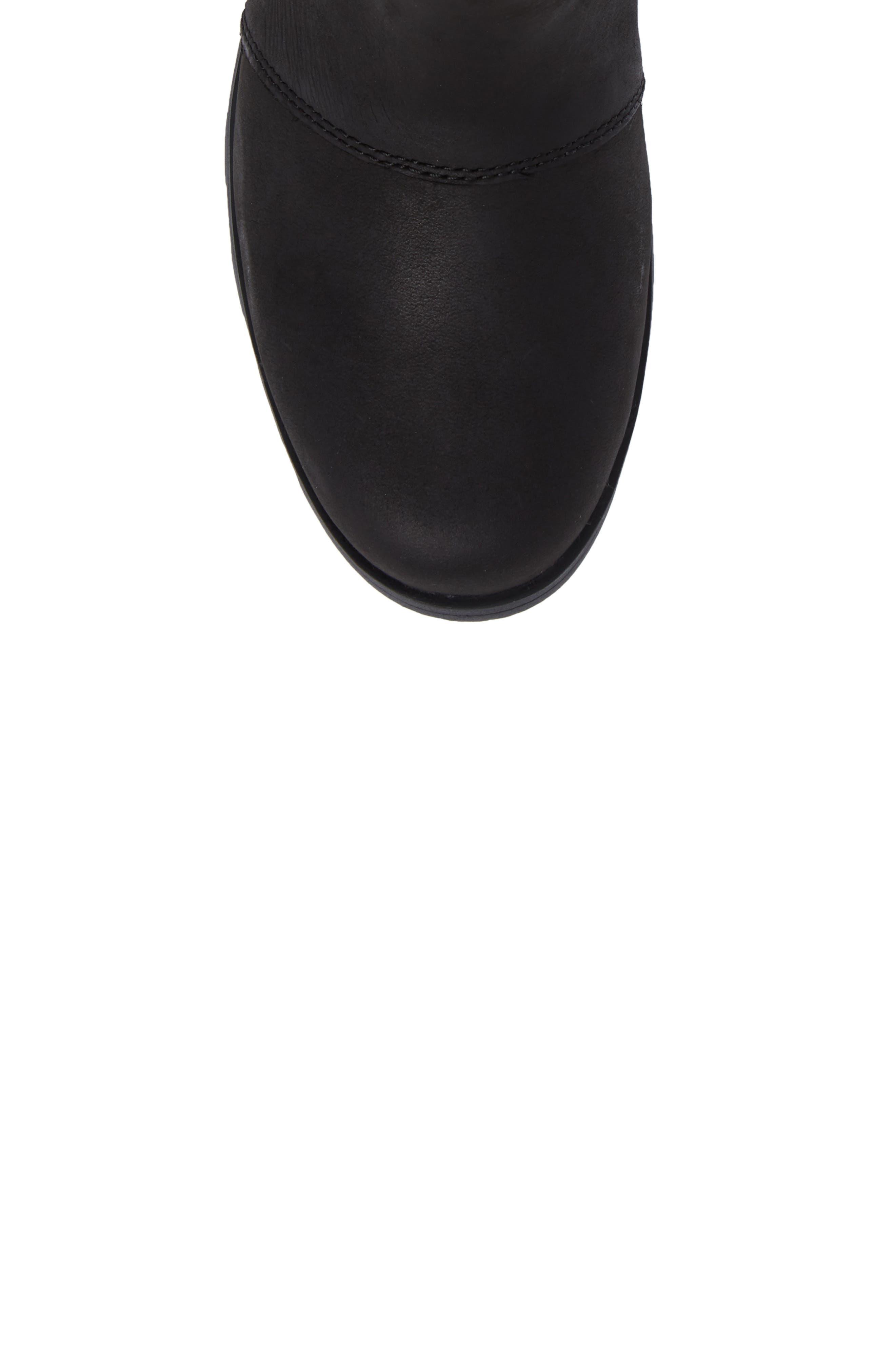 Emelie Waterproof Chelsea Boot,                             Alternate thumbnail 5, color,                             Black/ Black