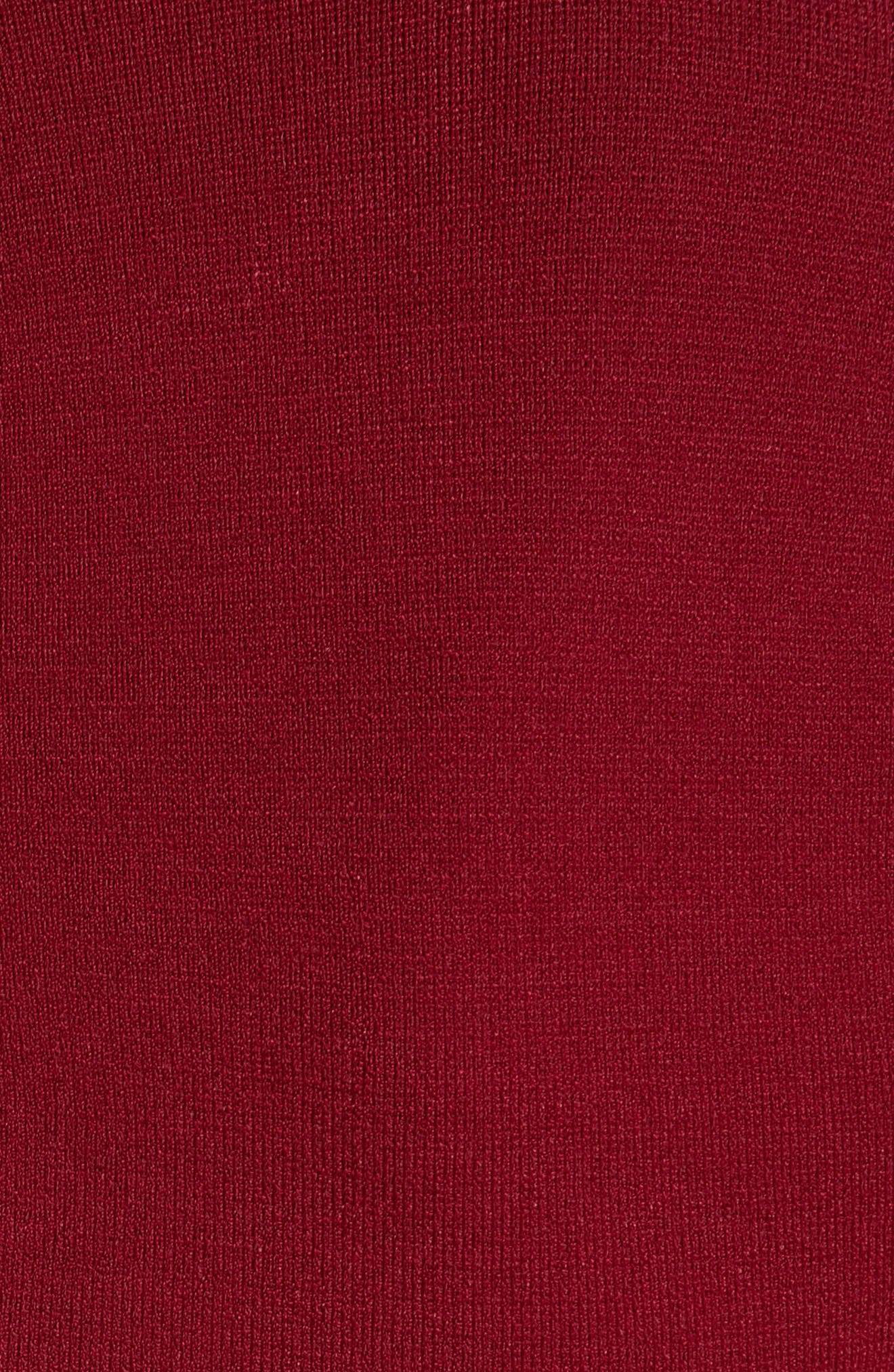 Lace Hem Knit Top,                             Alternate thumbnail 6, color,                             Mulberry