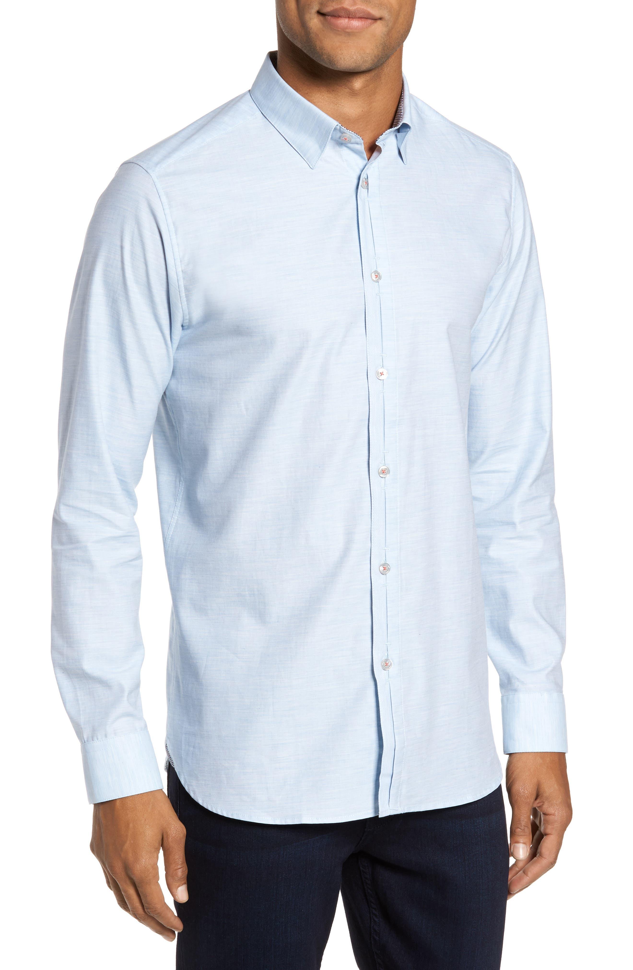 Alternate Image 1 Selected - Ted Baker London Annisley Modern Slim Fit Sport Shirt
