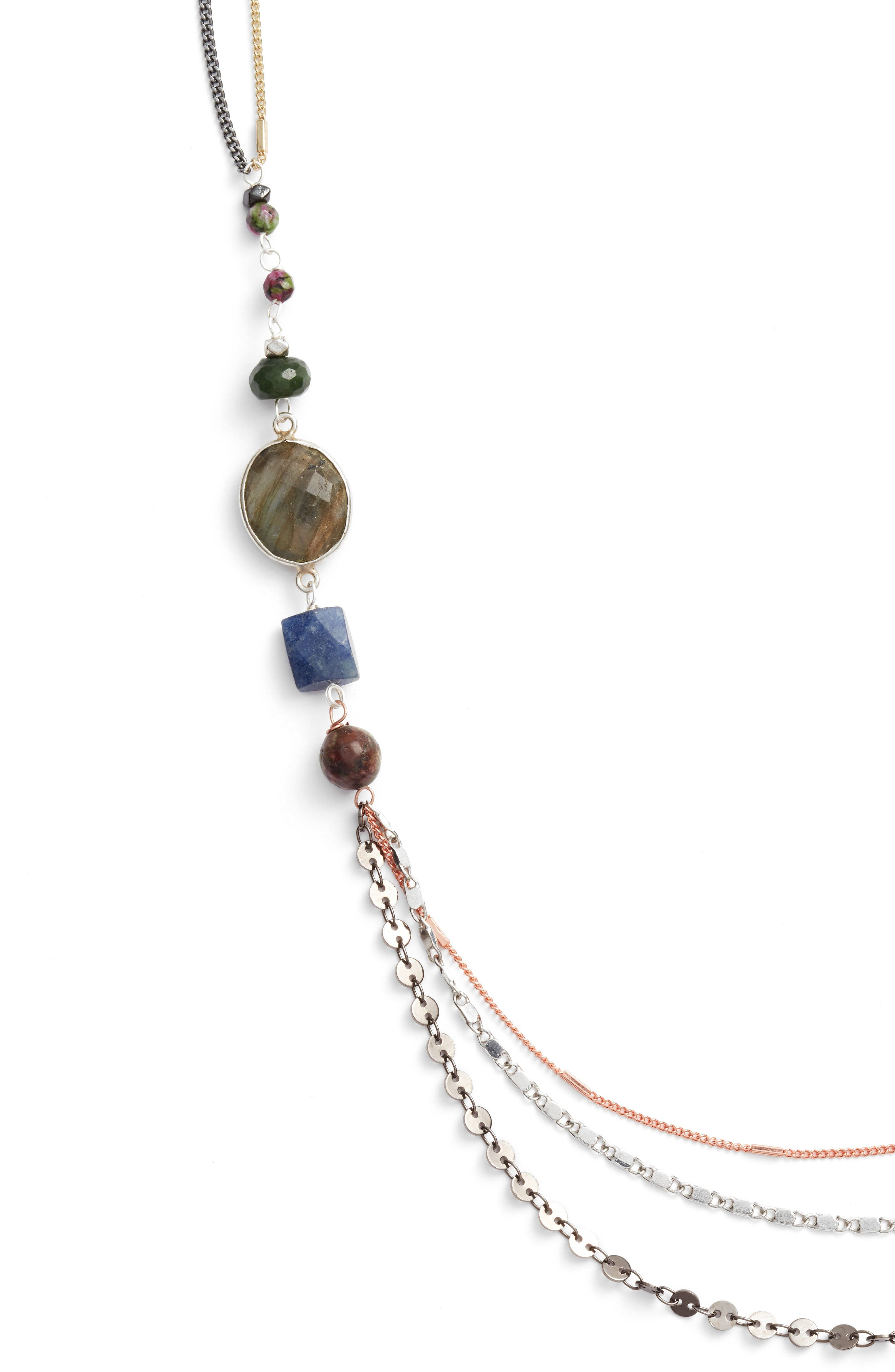 Beaded Necklace,                             Alternate thumbnail 2, color,                             Grey