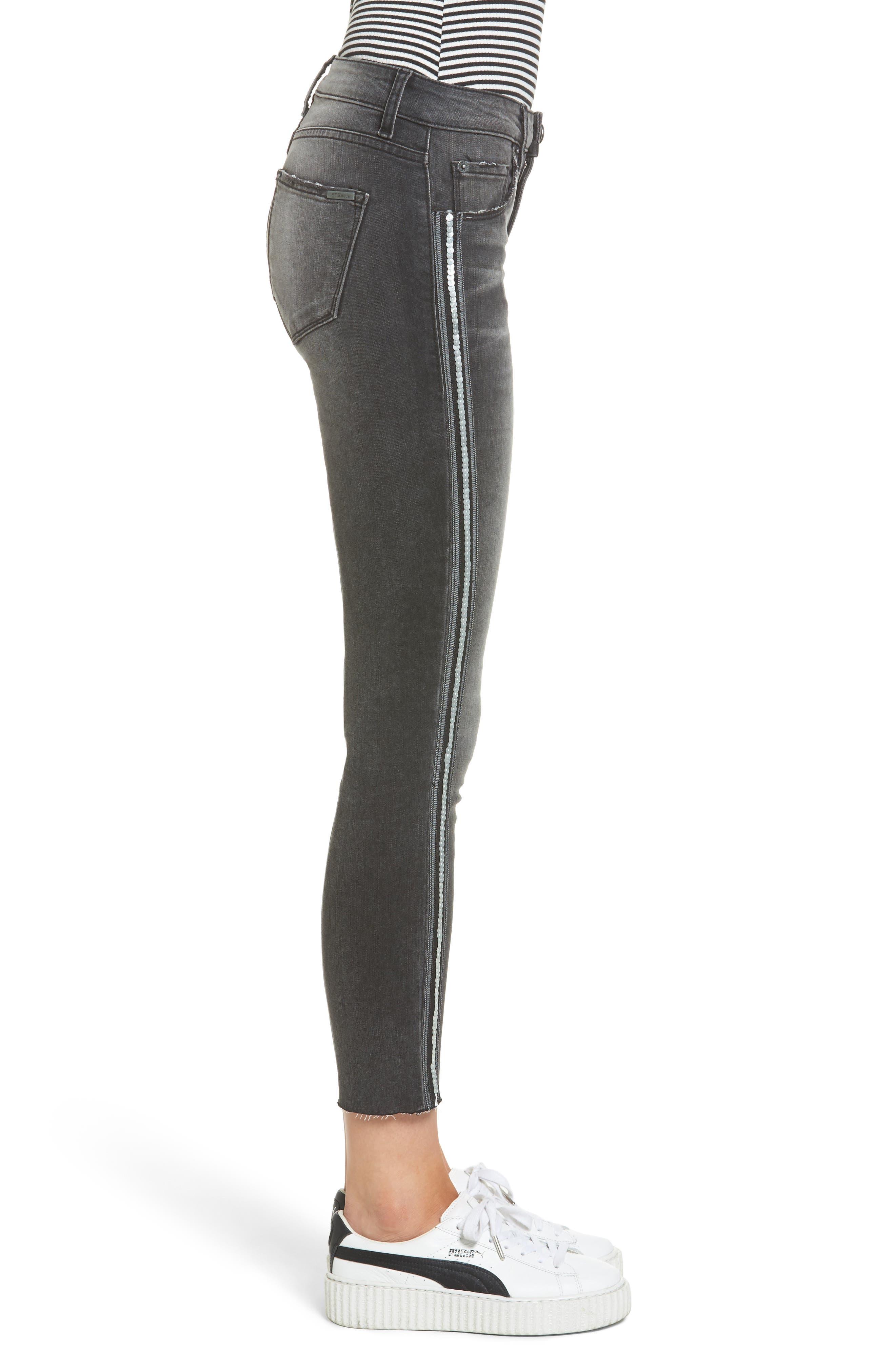 Alternate Image 3  - STS Blue Tuxedo Stripe Skinny Jeans