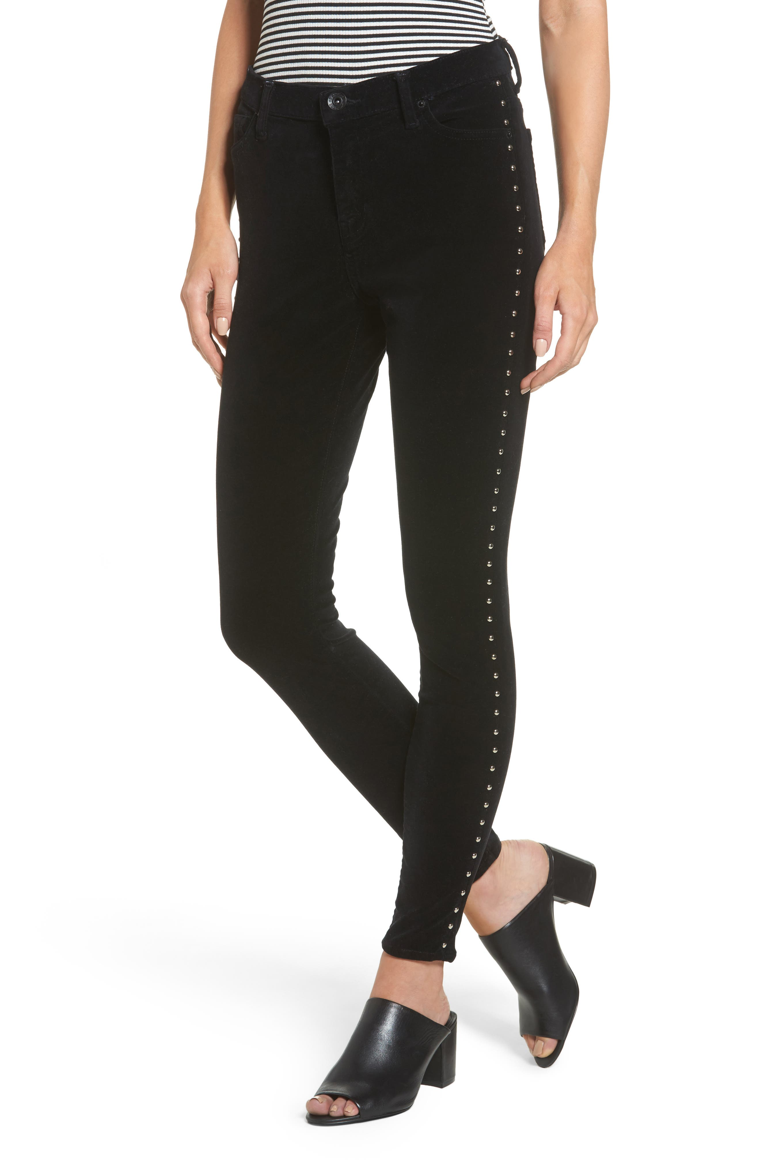 Band of Gypsies Lola Studded Skinny Jeans