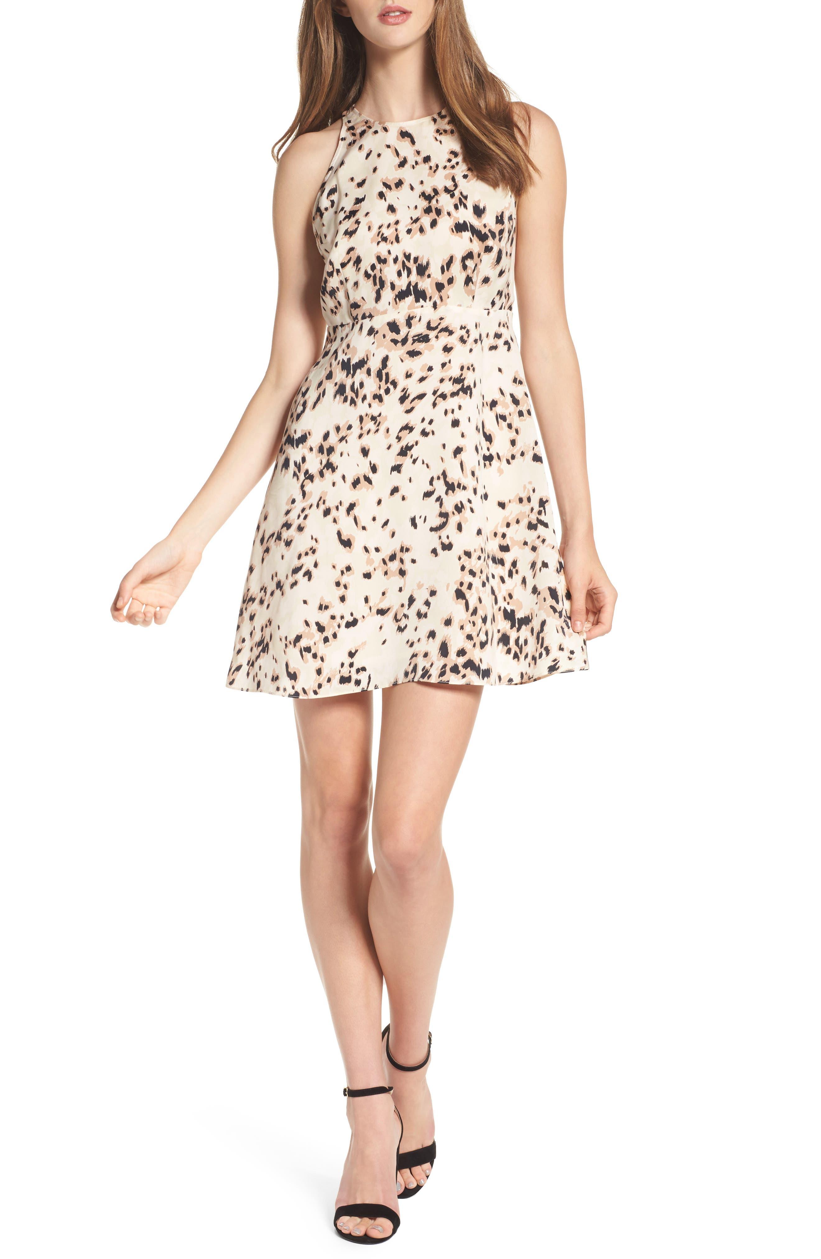 Ingrid Swing Dress,                         Main,                         color, Nude Skins